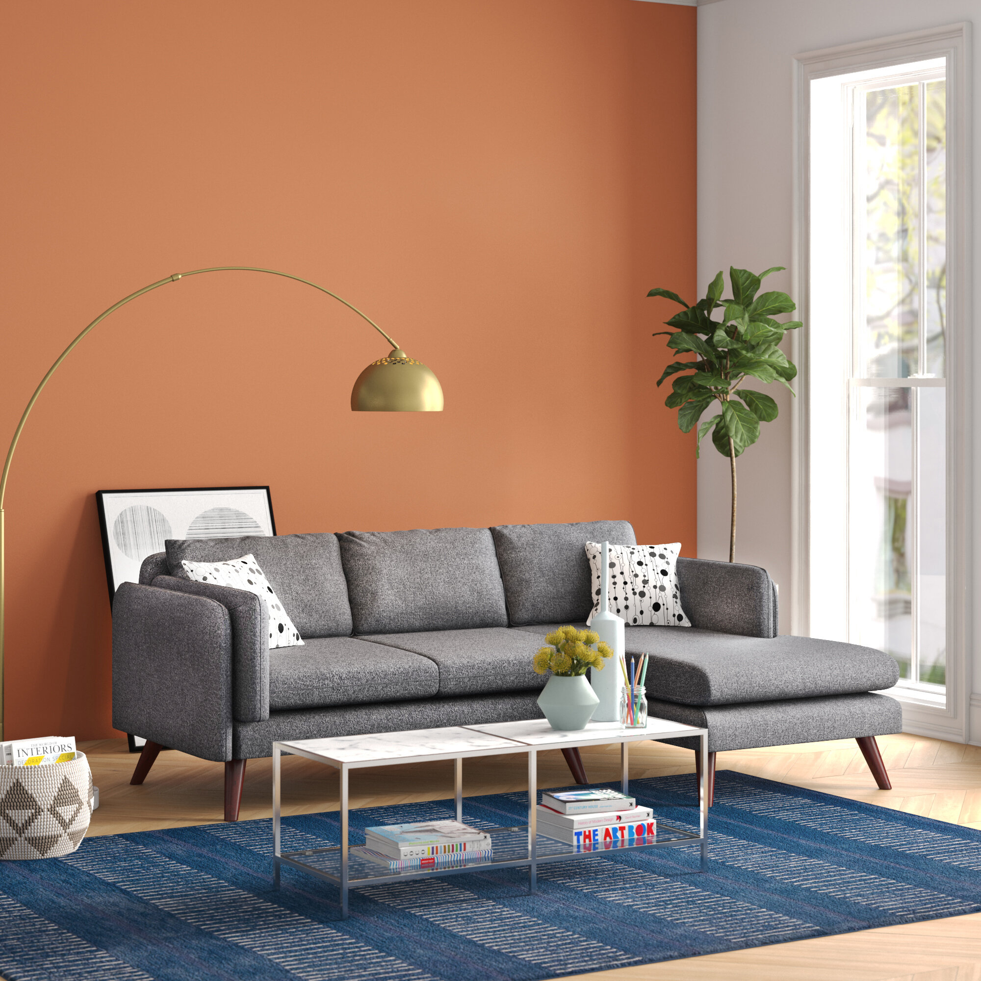 Picture of: Blue Sectional Sofa Ideas On Foter