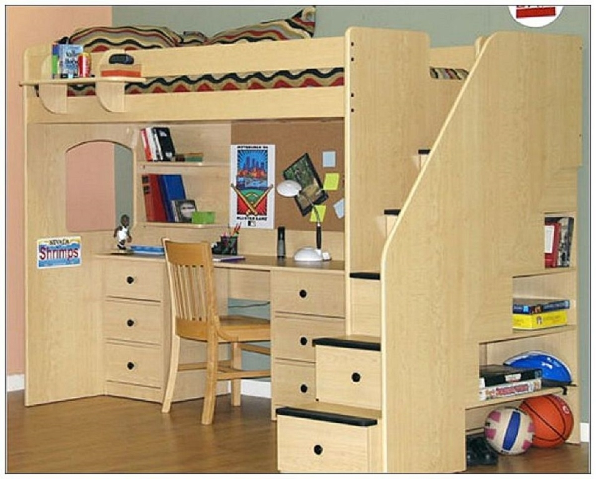 Bunk Bed Computer Desk Ideas On Foter