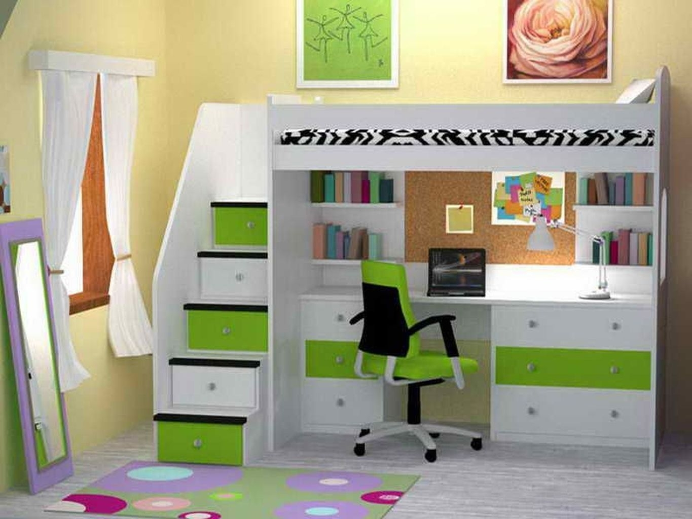 Picture of: Bunk Beds With Desks Underneath For 2020 Ideas On Foter