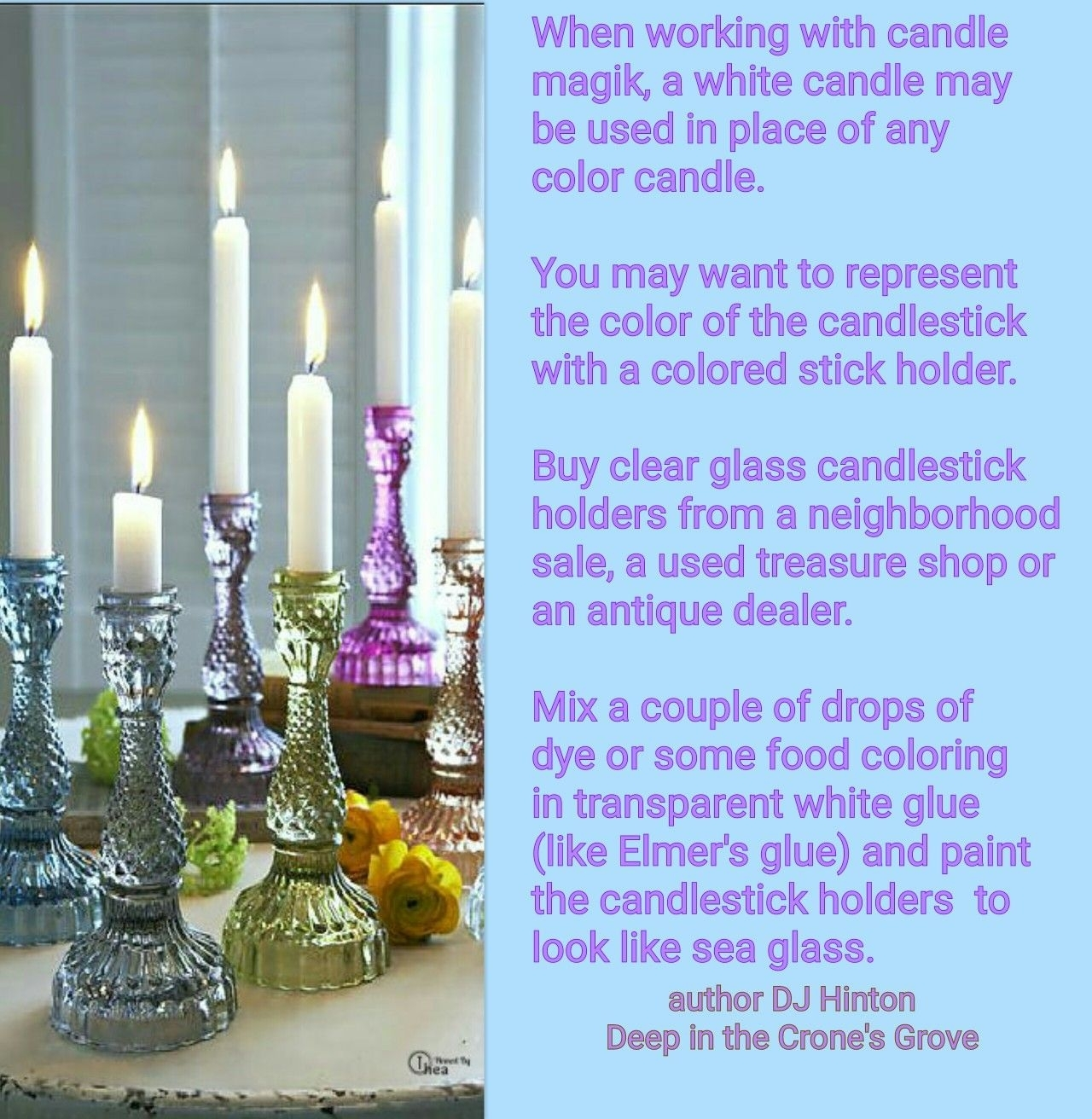 Colored Glass Candlesticks Ideas On Foter