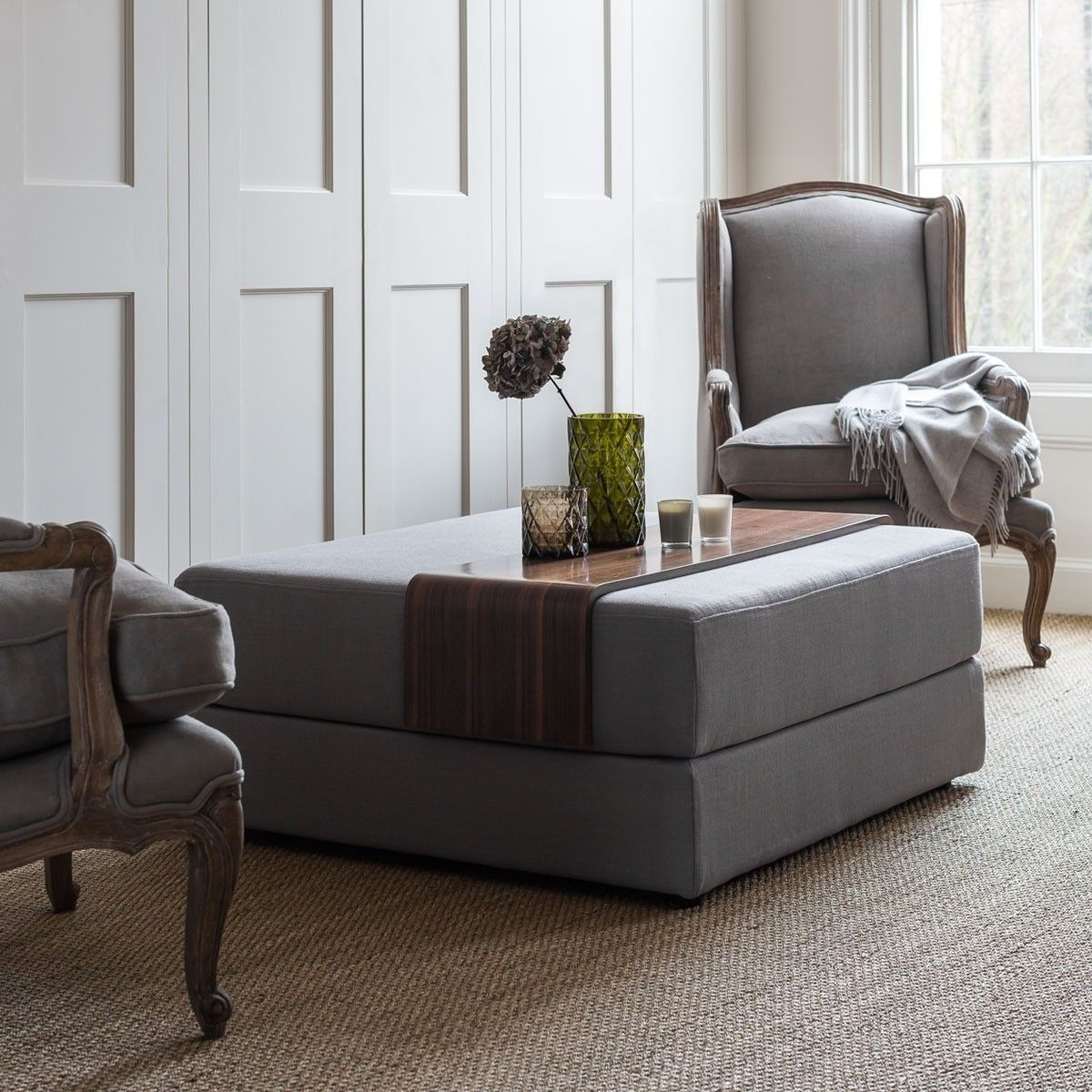 Contemporary Ottoman Coffee Table Ideas On Foter