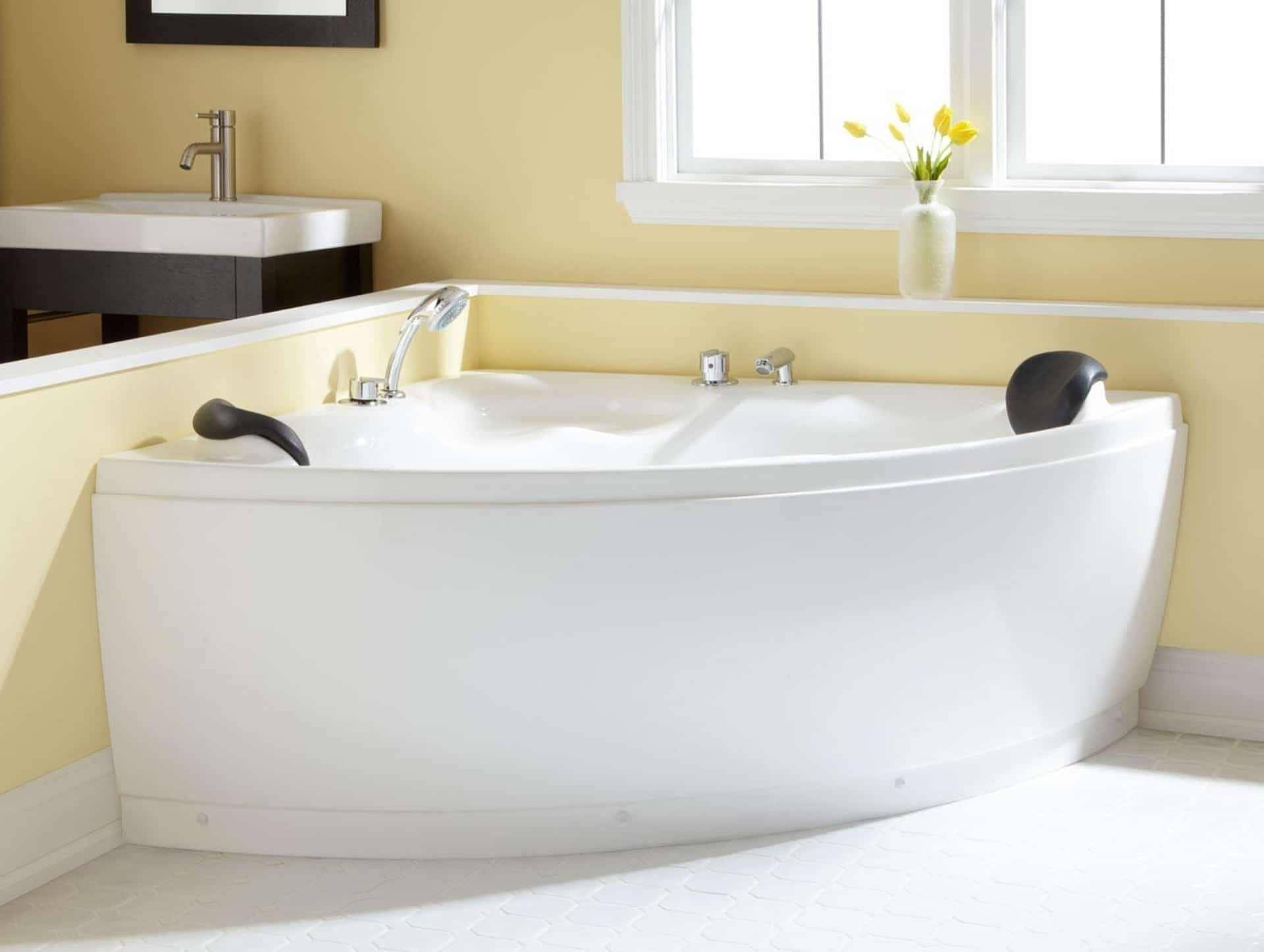 Picture of: Corner Freestanding Tub Ideas On Foter