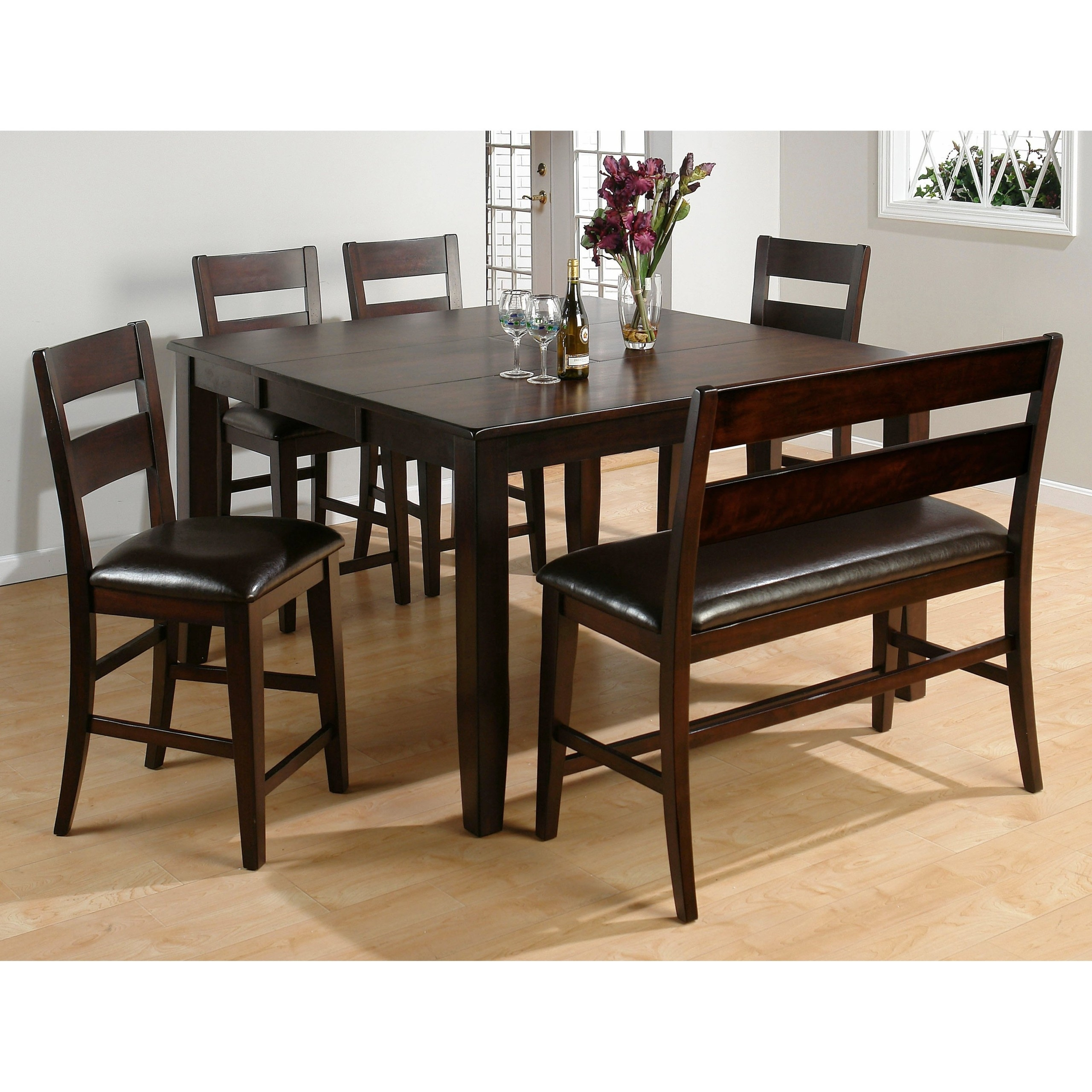 Picture of: Counter Height Table With Bench Seating Ideas On Foter