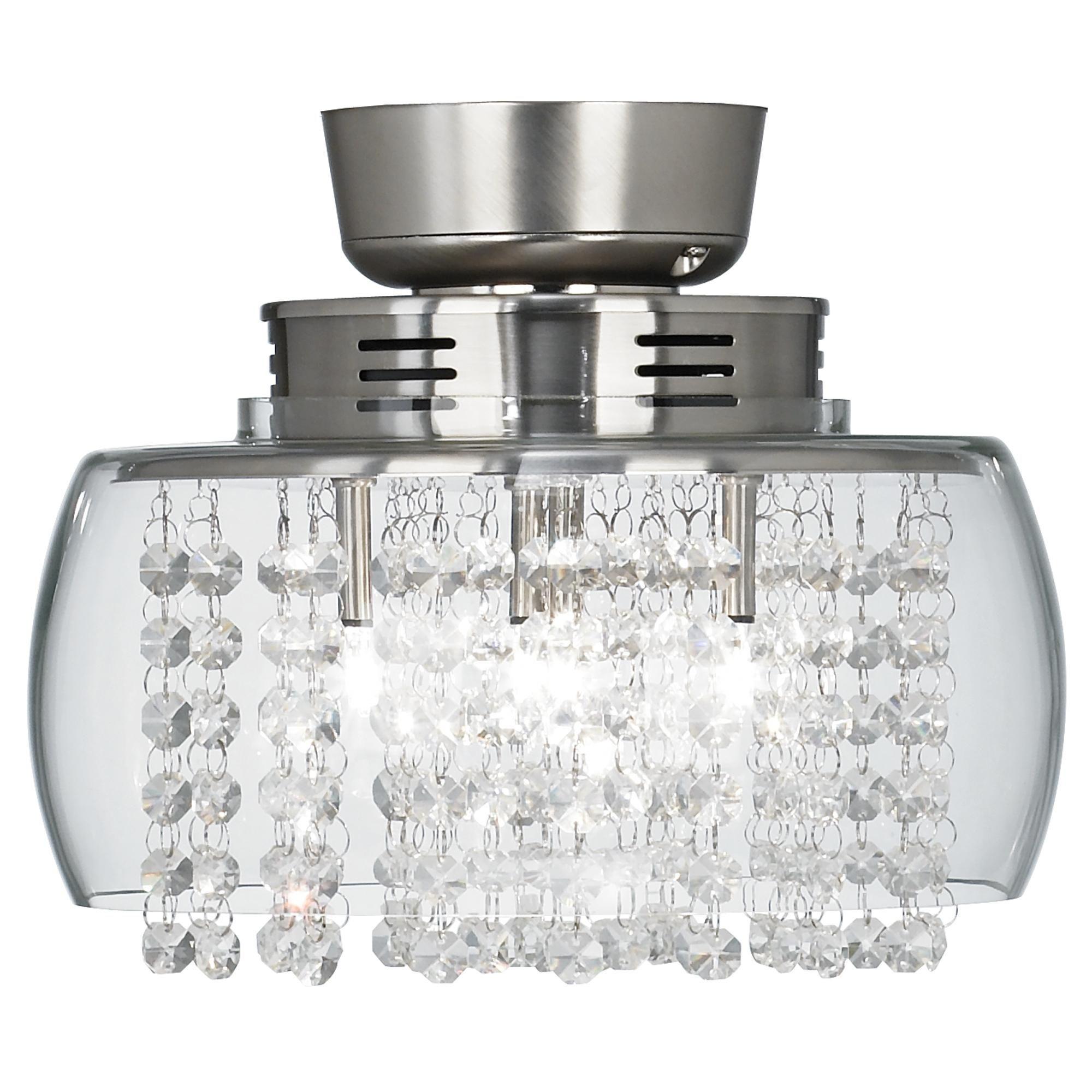 Image of: Crystal Ceiling Fan Light Kit Ideas On Foter