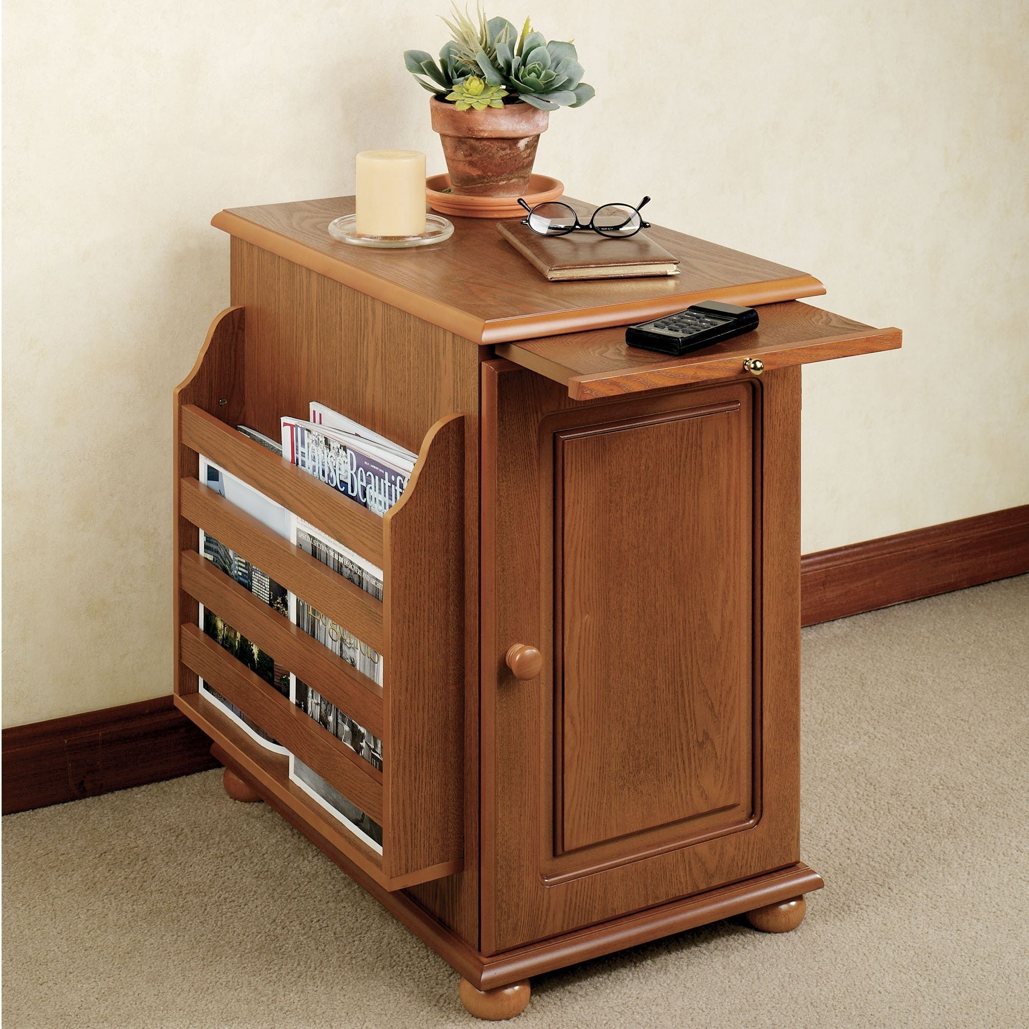 End Tables With Magazine Rack Ideas On Foter