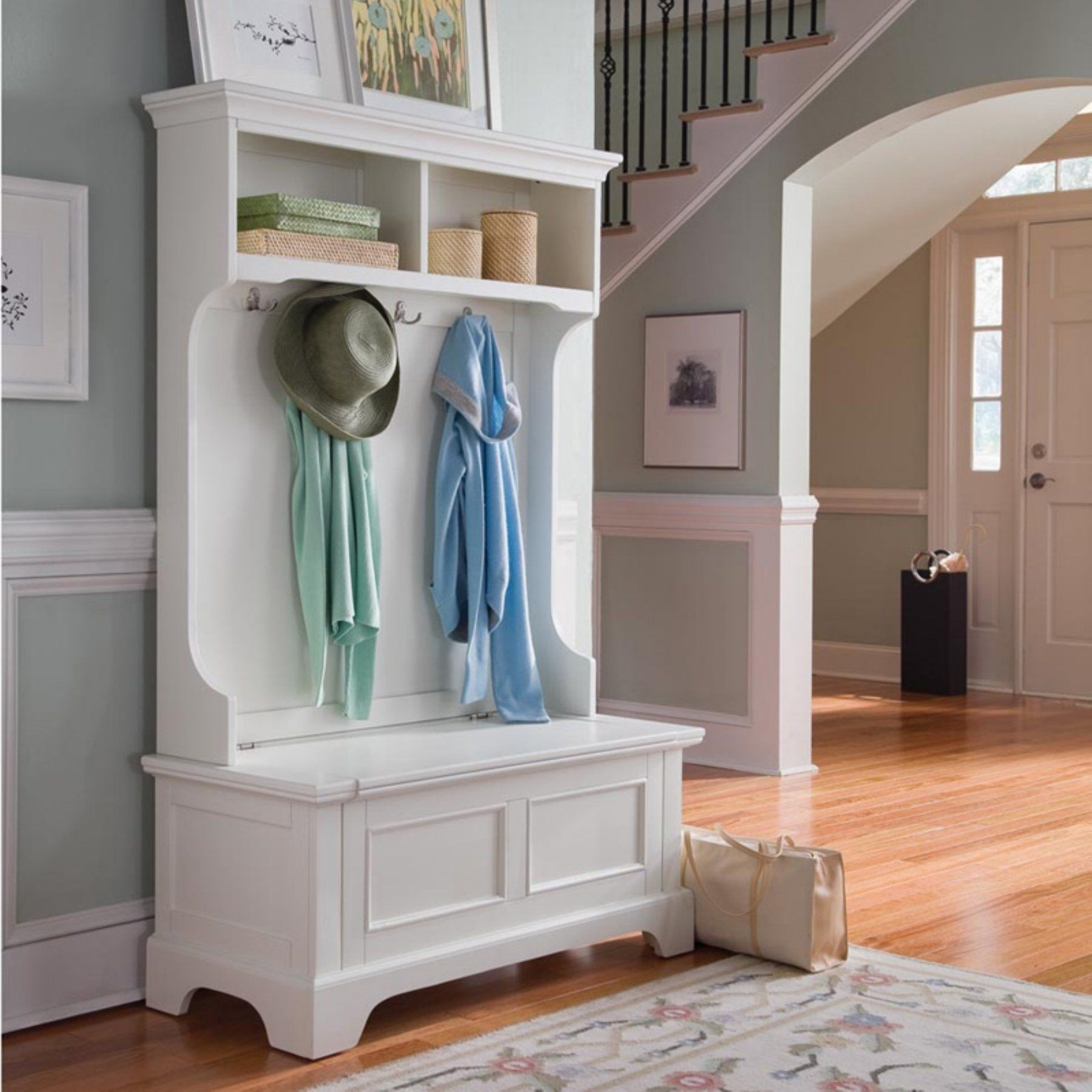 Entryway Hall Tree With Storage Bench Ideas On Foter