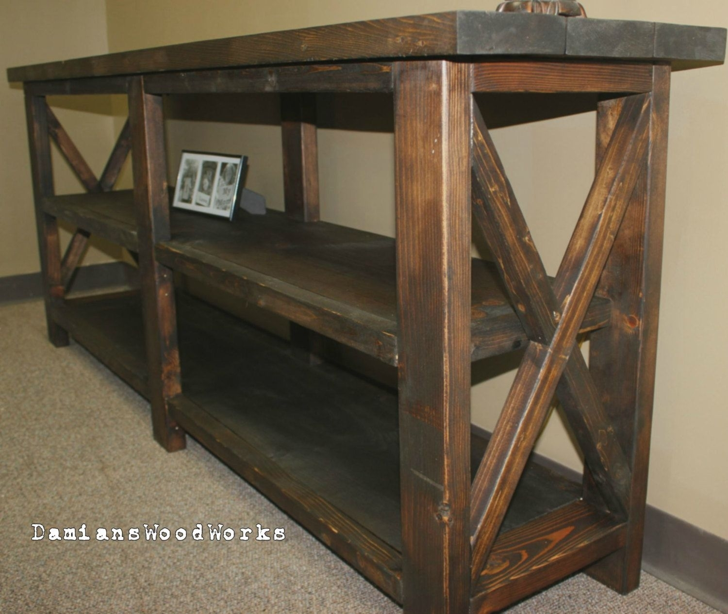 Picture of: Farmhouse Console Table Ideas On Foter