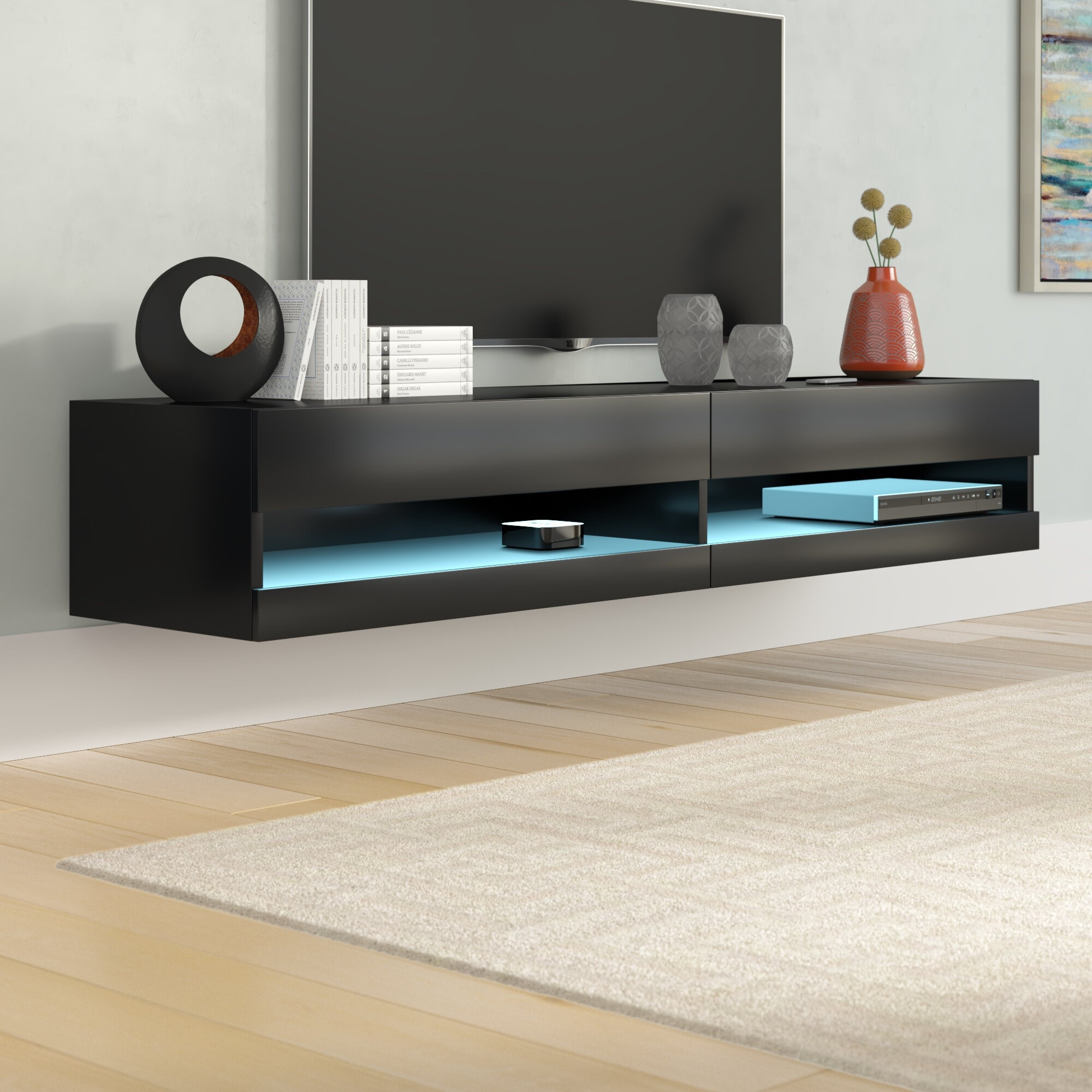 floating shelf for tv ponents