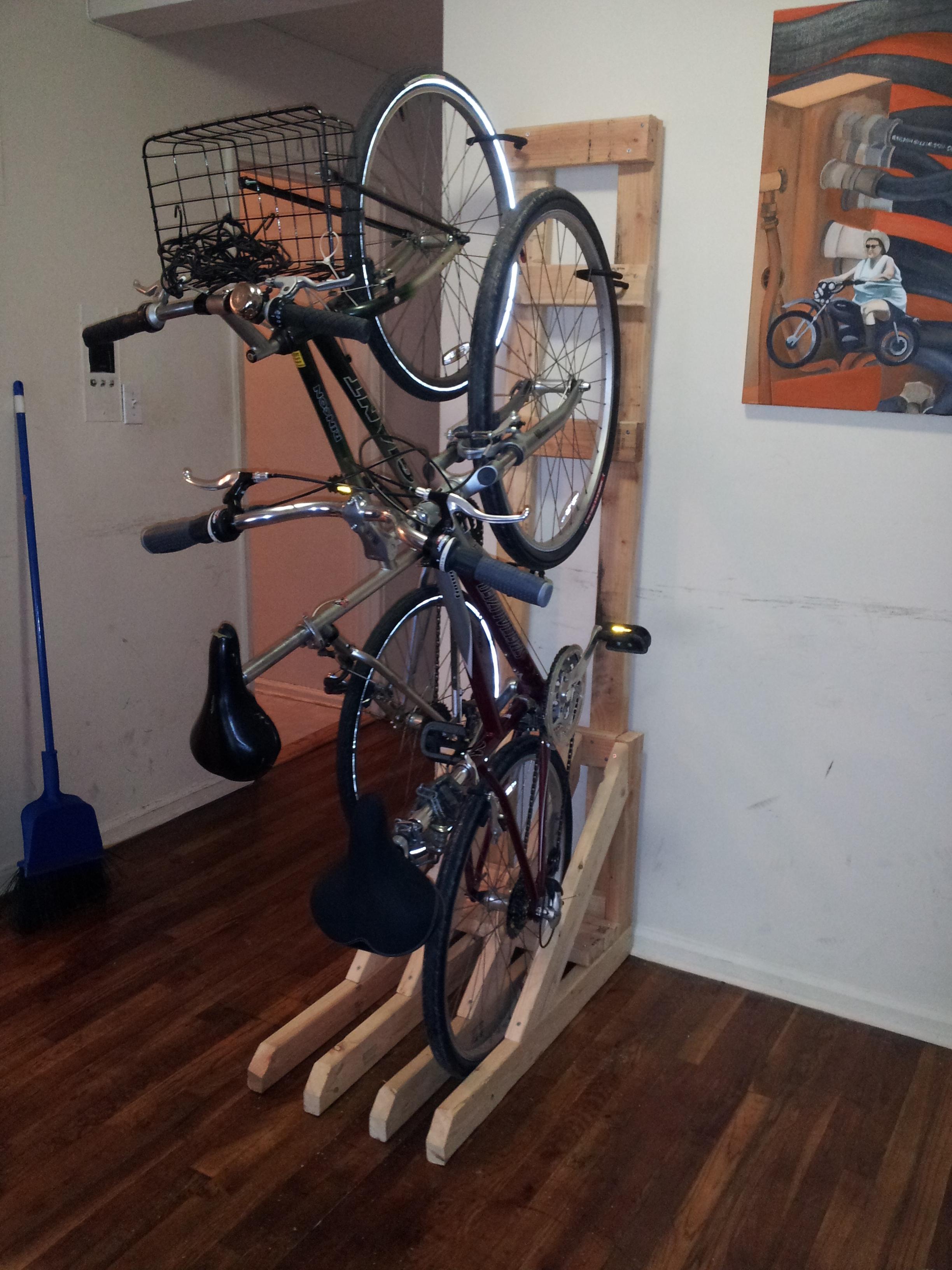 Steel Floor Parking Rack Non-Slip Mountain Bikes Sturdy Bike Stand for Road Bike