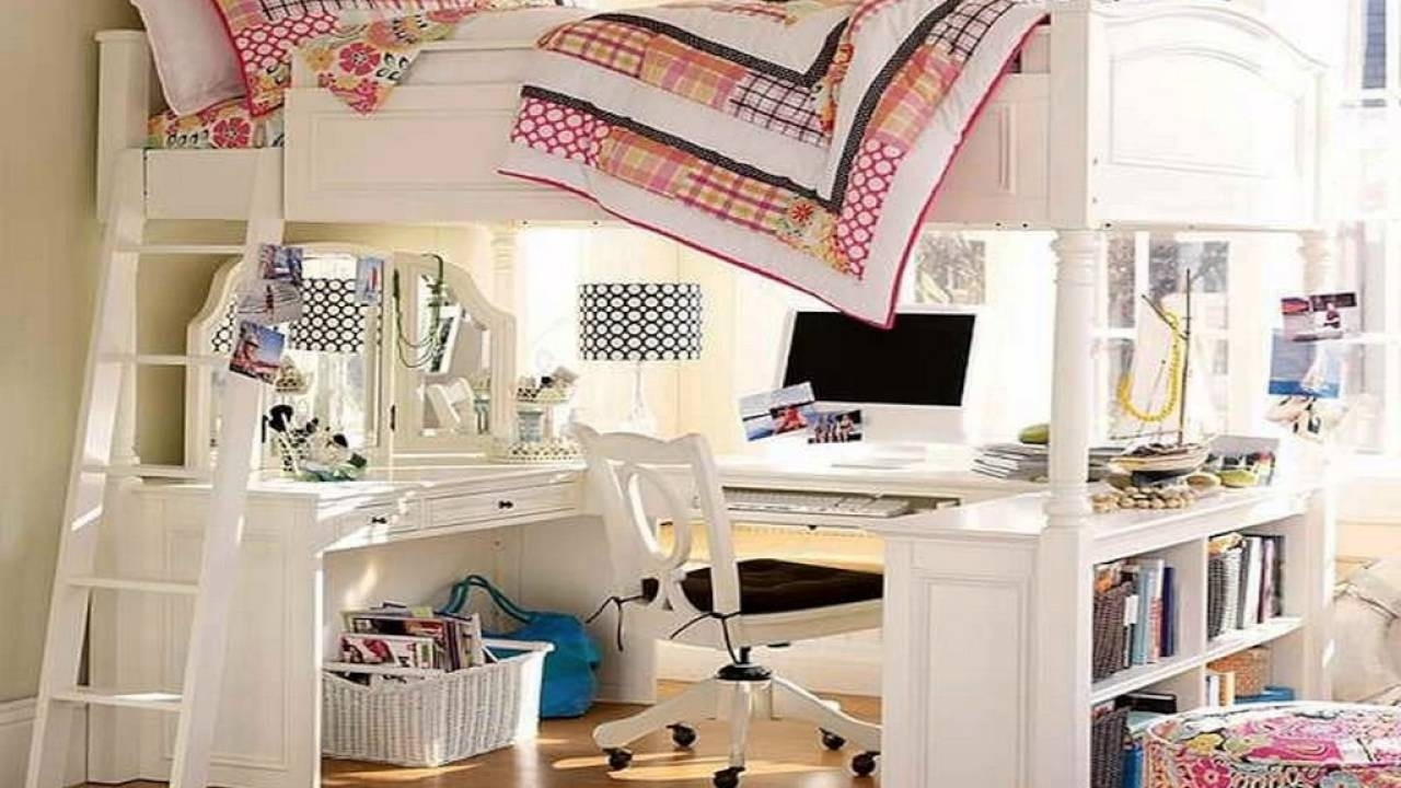 Picture of: Full Size Loft Bed With Desk Underneath For 2020 Ideas On Foter