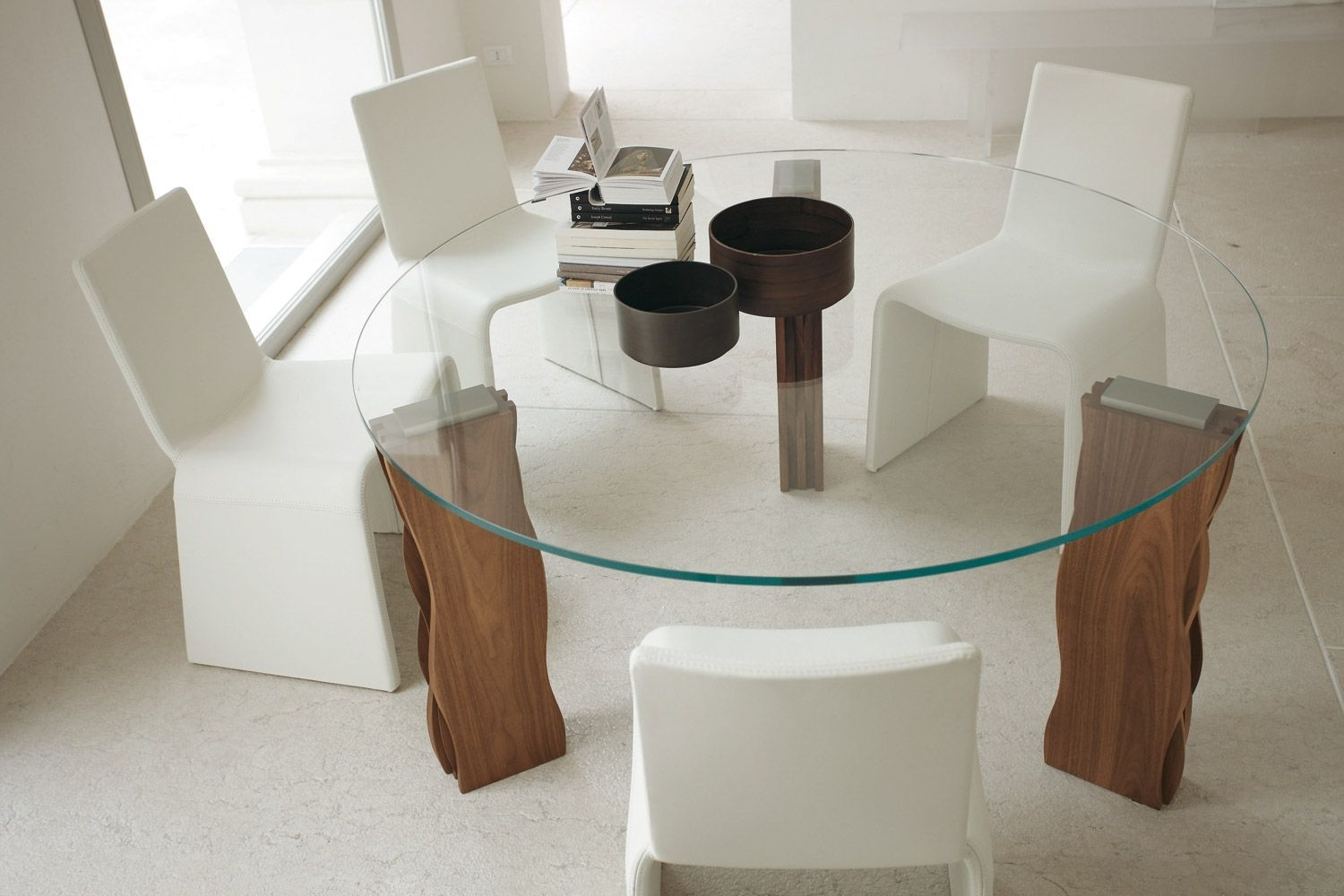 Picture of: Glass Round Dining Table For 6 Ideas On Foter
