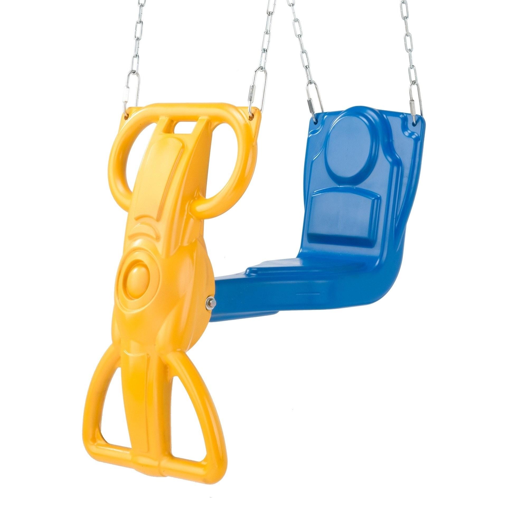 Kids Outdoor Garden Four Swing Set 4 Metal Children's 6 Seats Glider /& Cradle