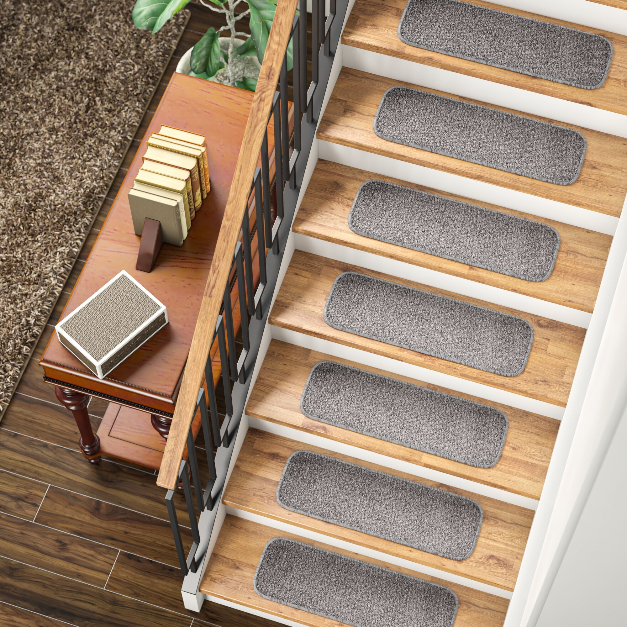 Image of: How To Choose Stair Tread Rugs Foter