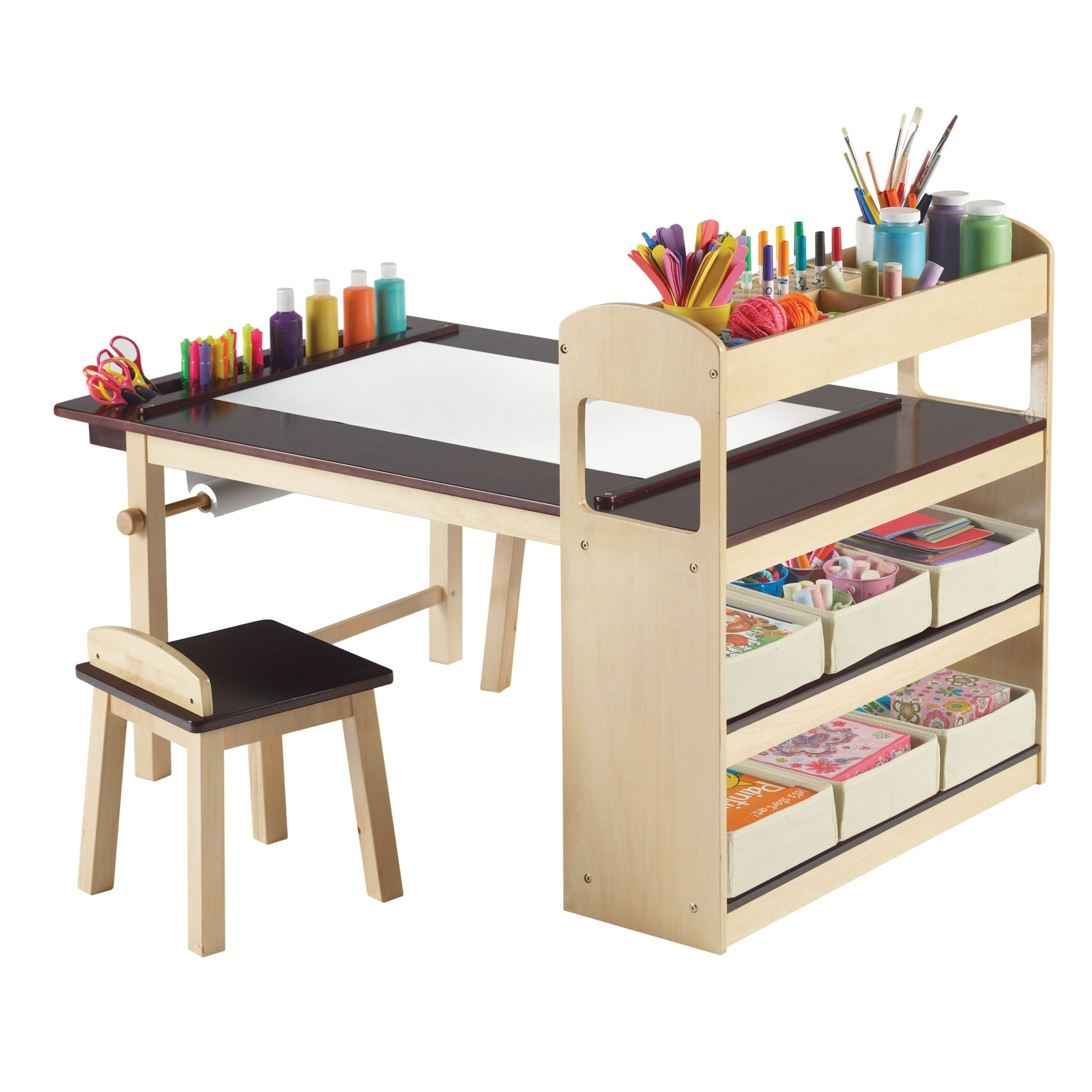 Picture of: Kids Art Table With Storage Ideas On Foter