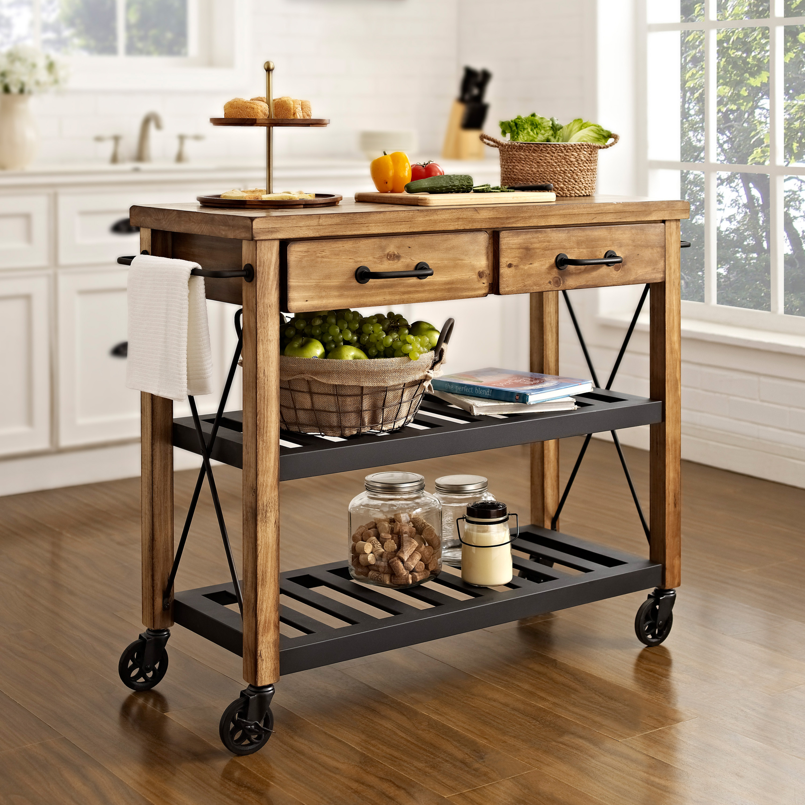 Image of: Kitchen Carts With Drawers Ideas On Foter