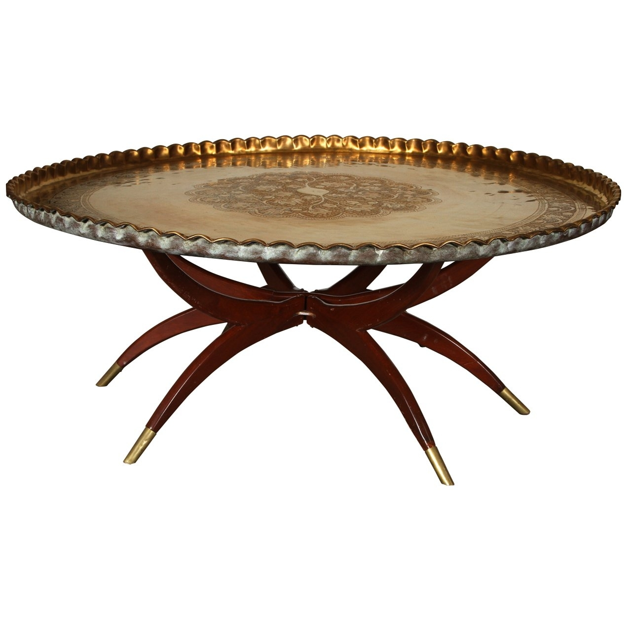 Large Round Tray For Ottoman Ideas On Foter
