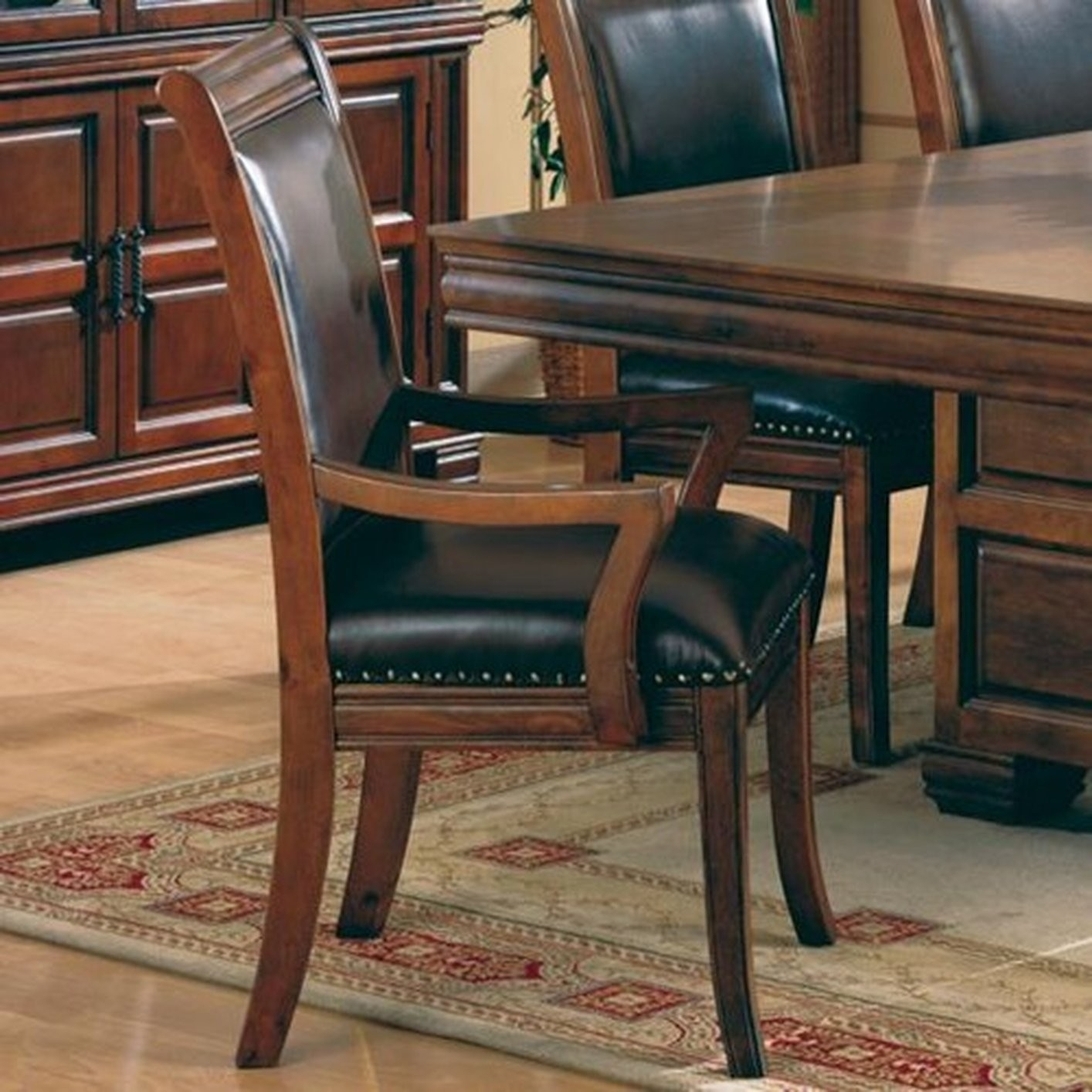 Picture of: Leather Dining Room Chairs With Arms Ideas On Foter