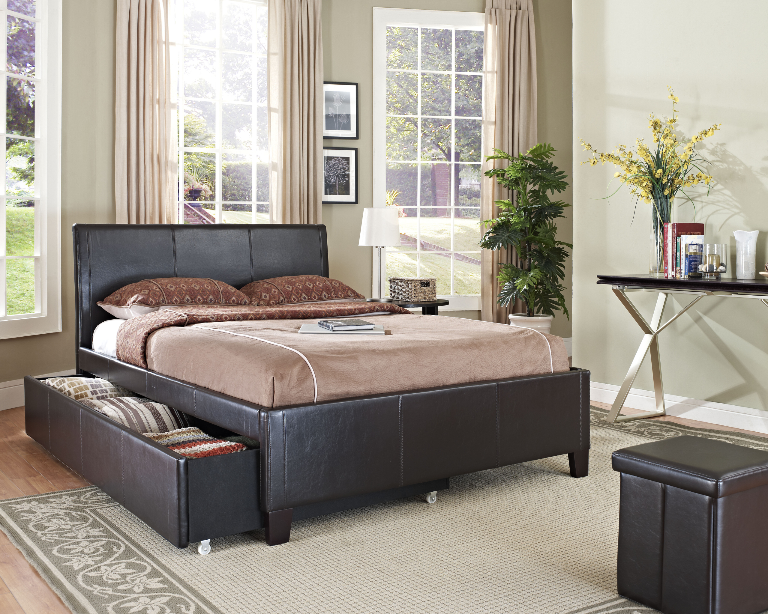 Leather Platform Bed With Storage Ideas On Foter