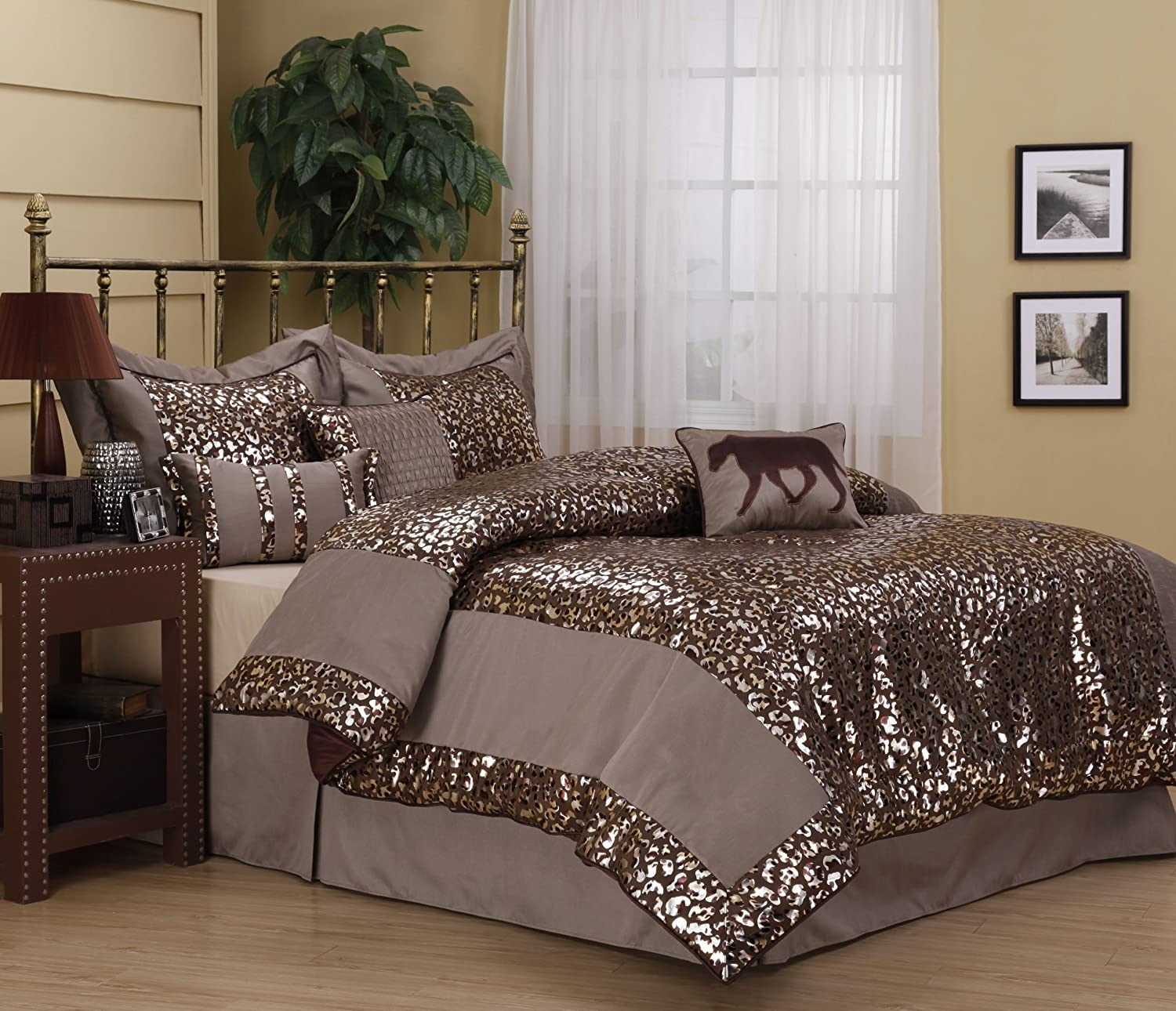 Leopard Print Comforter Set Queen Ideas On Foter