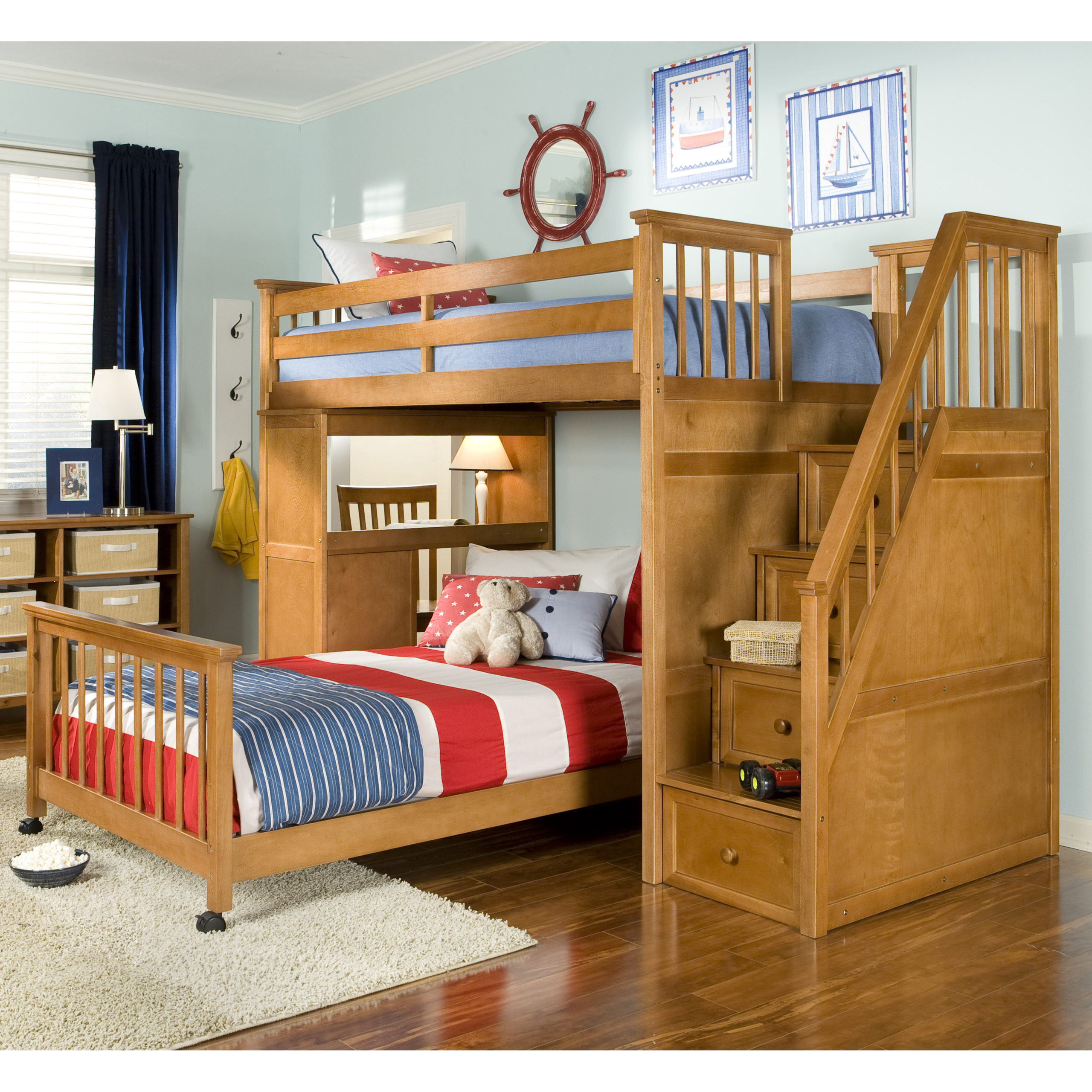 Picture of: Loft Bed With Storage Ideas On Foter