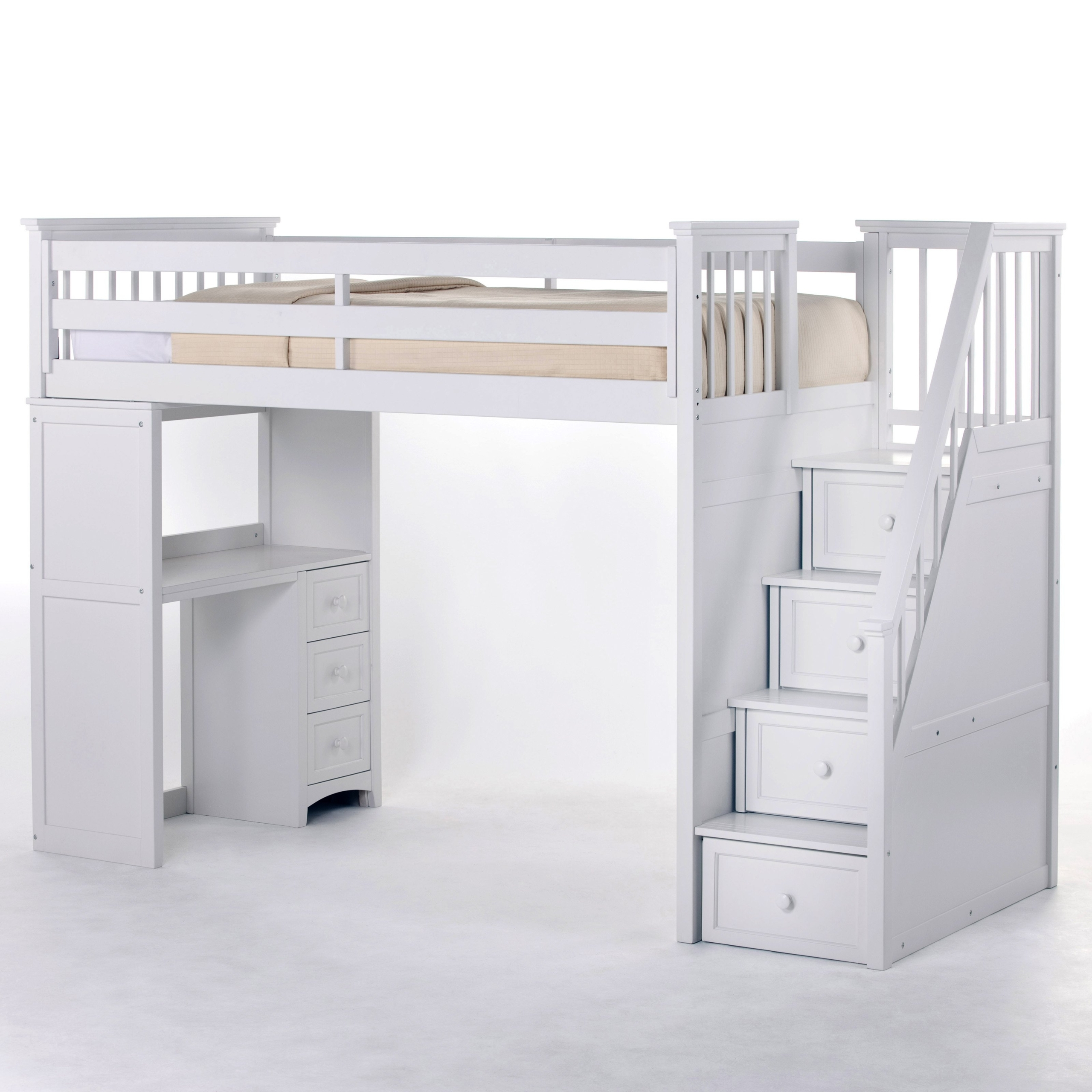 Picture of: Loft Bunk Beds With Desk And Drawers Ideas On Foter