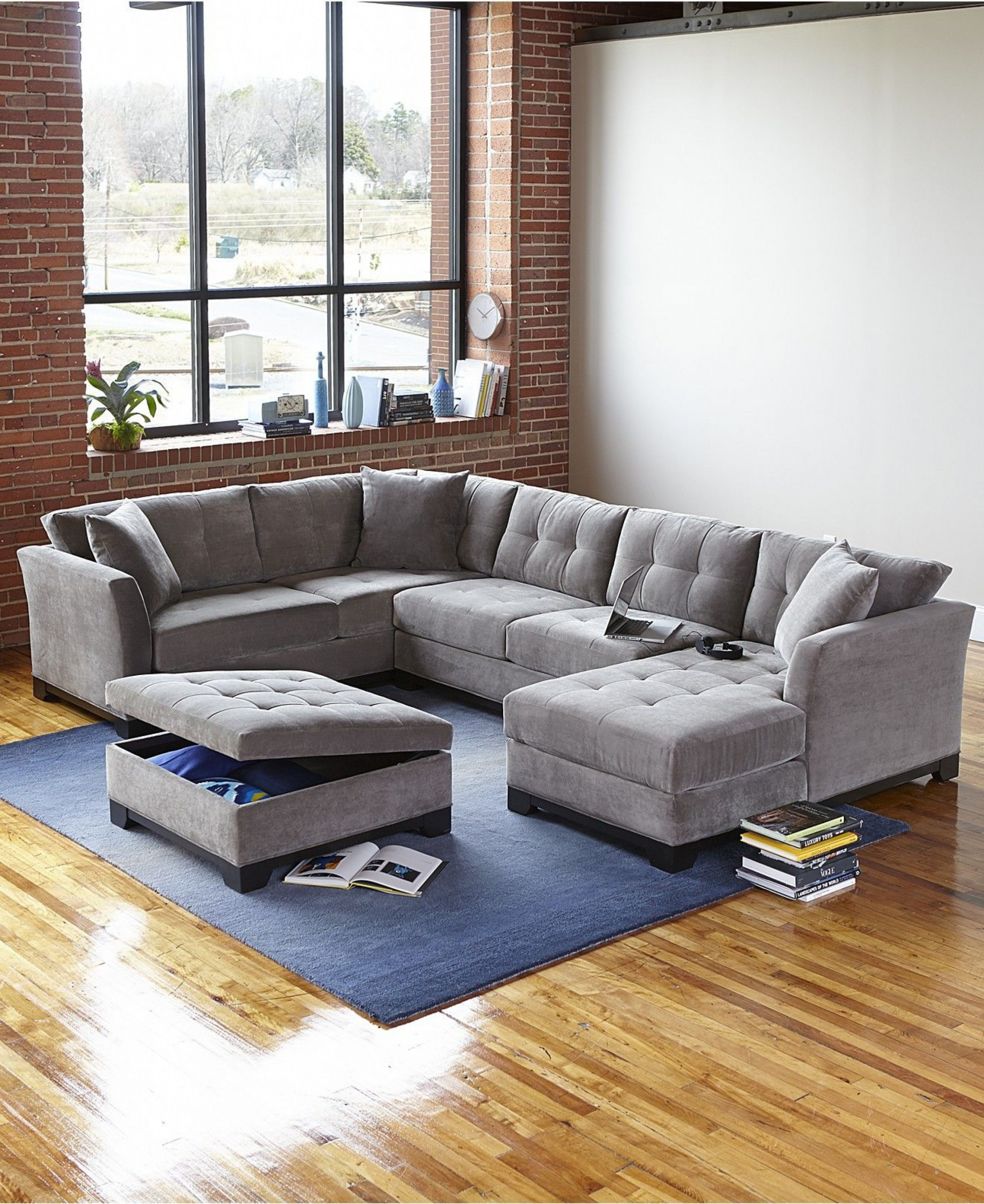Picture of: Microfiber Sofa With Chaise Ideas On Foter