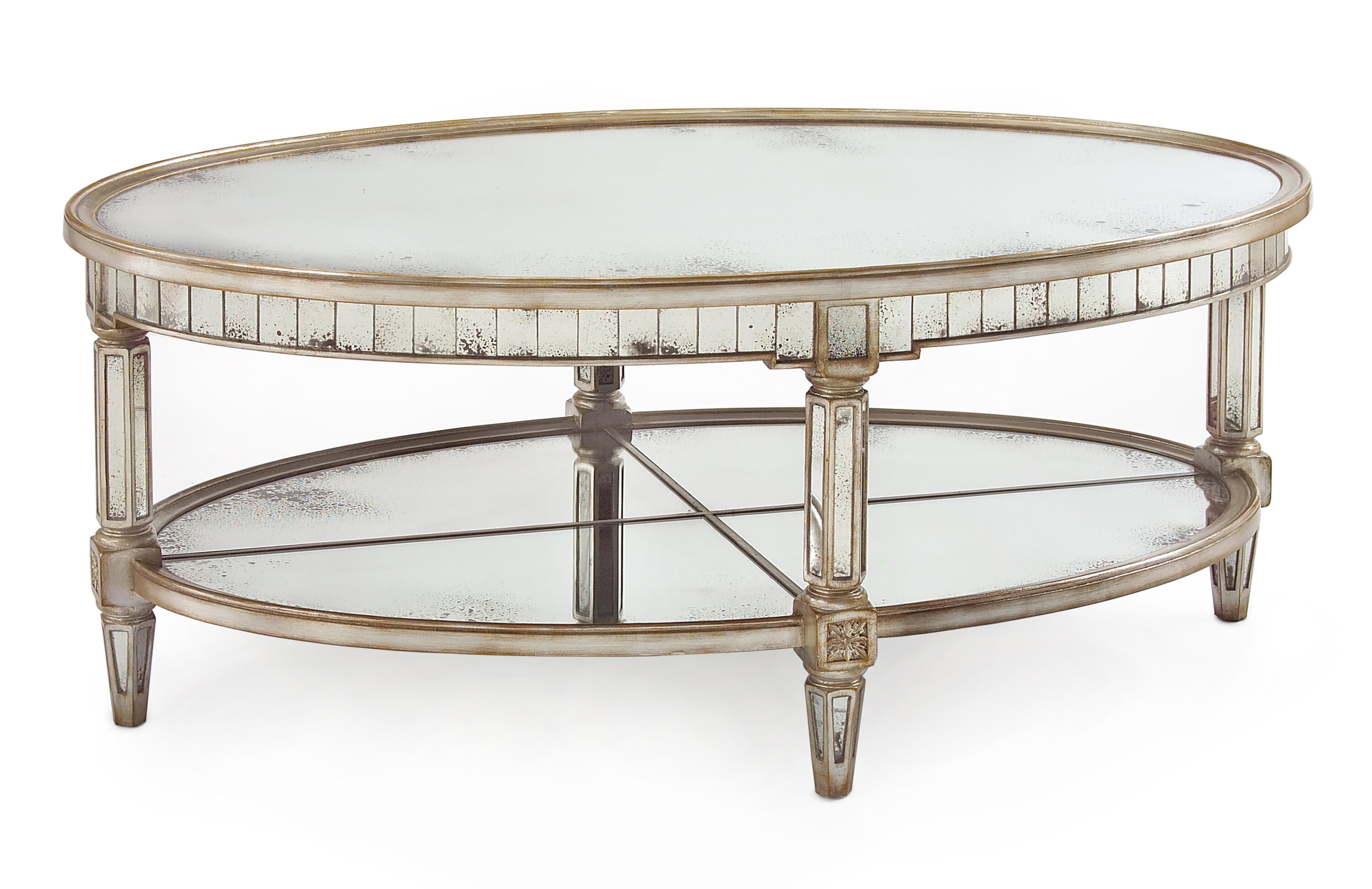 Picture of: Oval Mirrored Coffee Table Ideas On Foter
