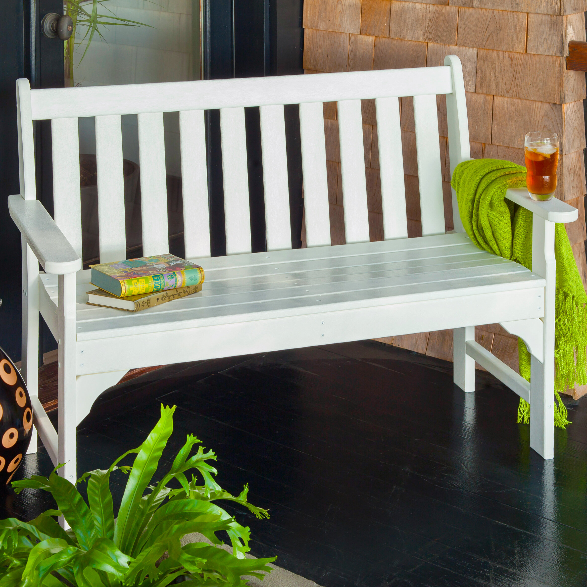 Picture of: Plastic Patio Benches Ideas On Foter