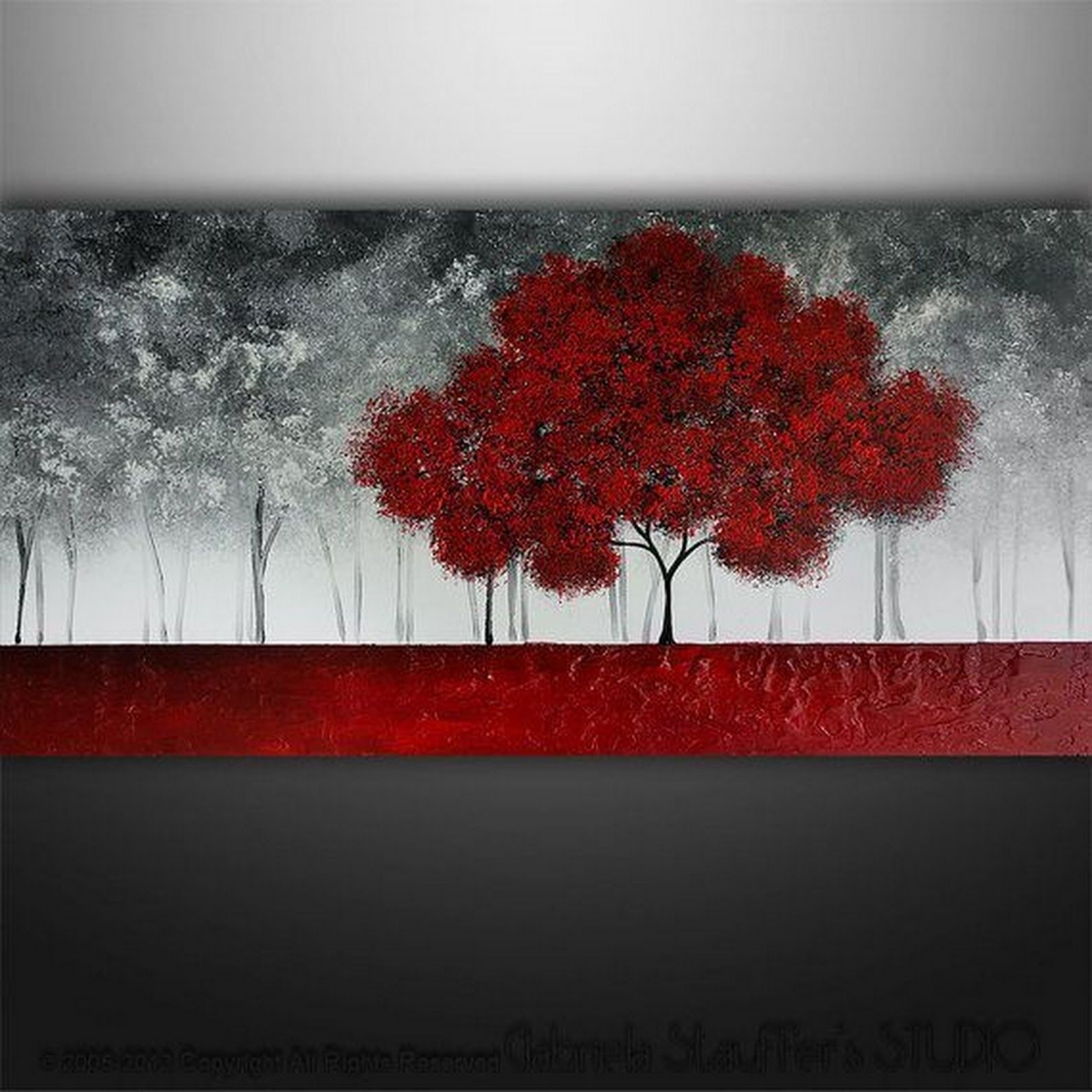 Red Trees Painting Ideas On Foter
