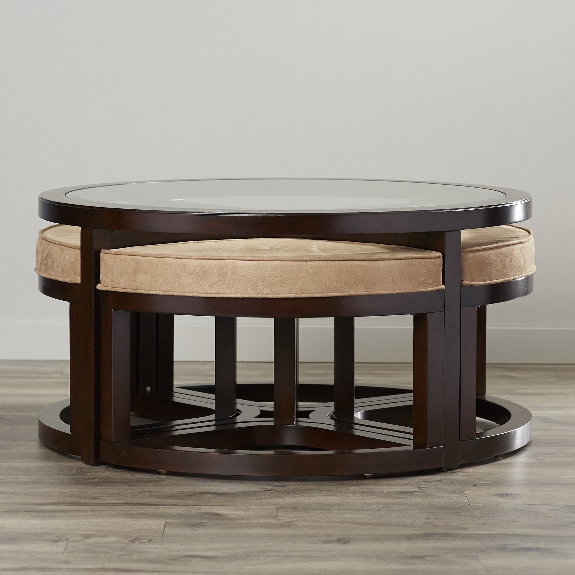 Round Coffee Table With Stools Ideas On Foter