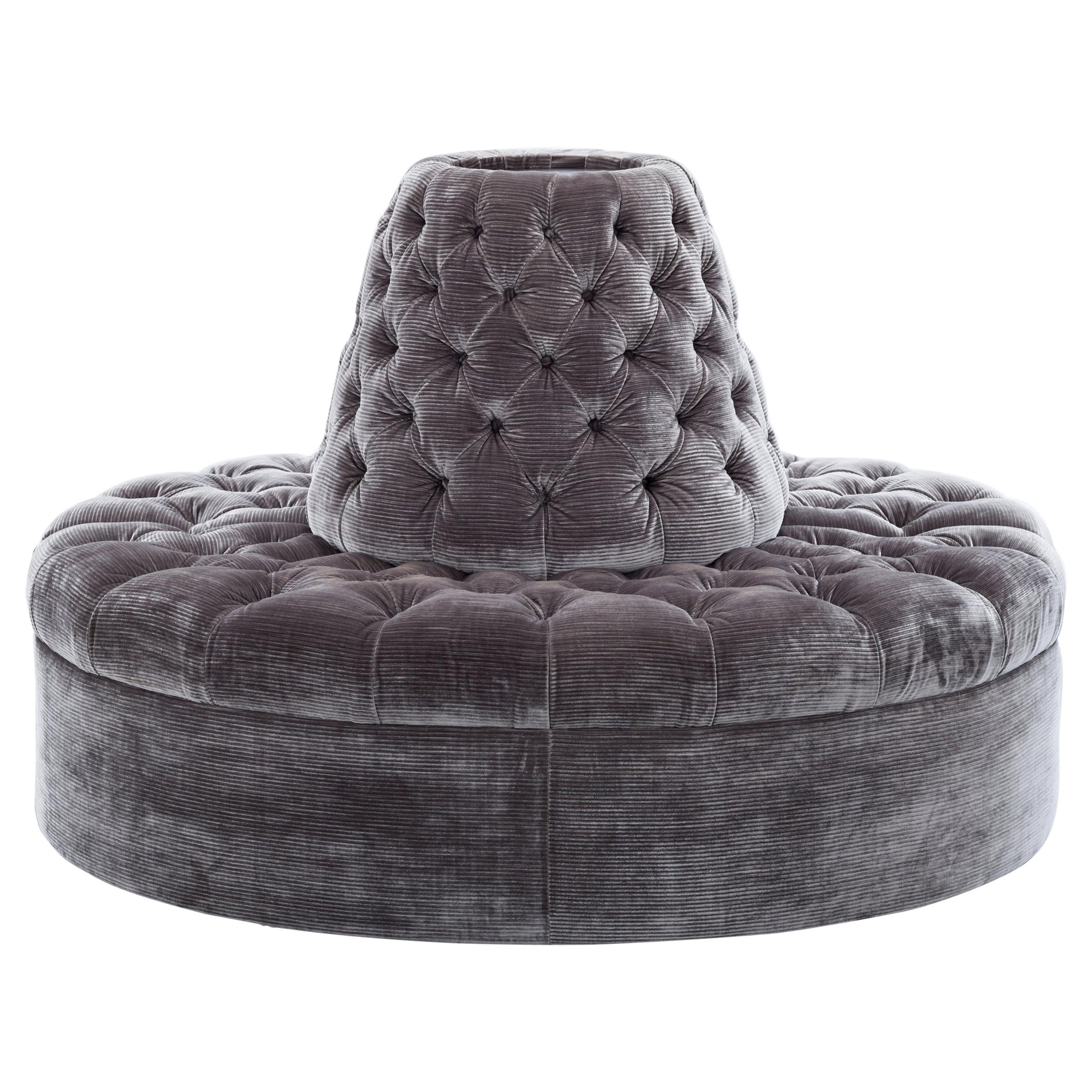 round velvet ottoman ideas on foter