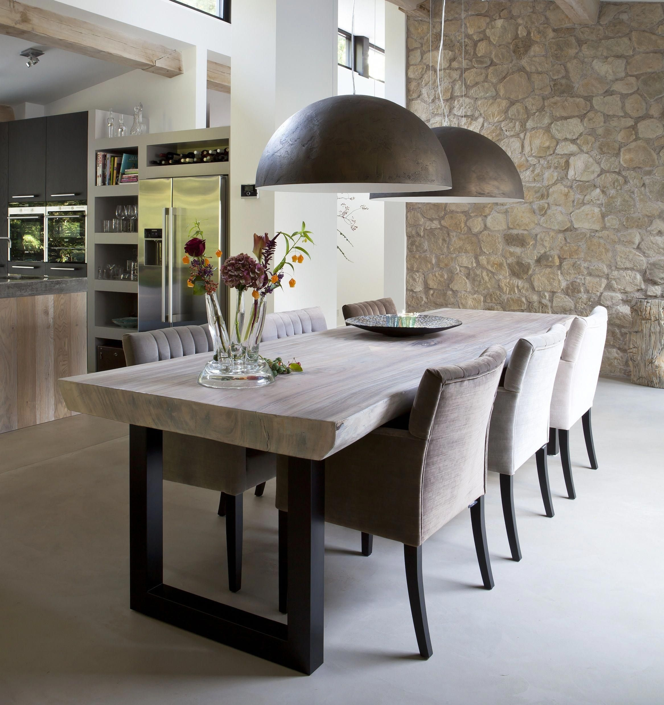 Picture of: Rustic Industrial Dining Table Ideas On Foter