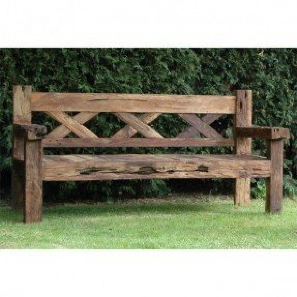 Picture of: Rustic Outdoor Bench Ideas On Foter