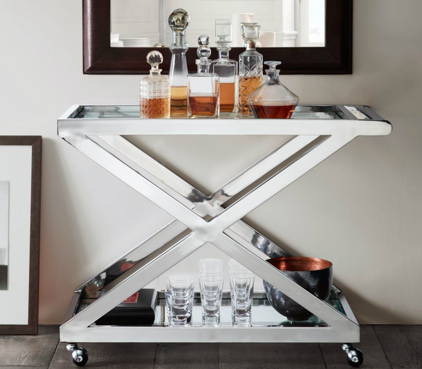 Silver Bar Cart Ideas On Foter