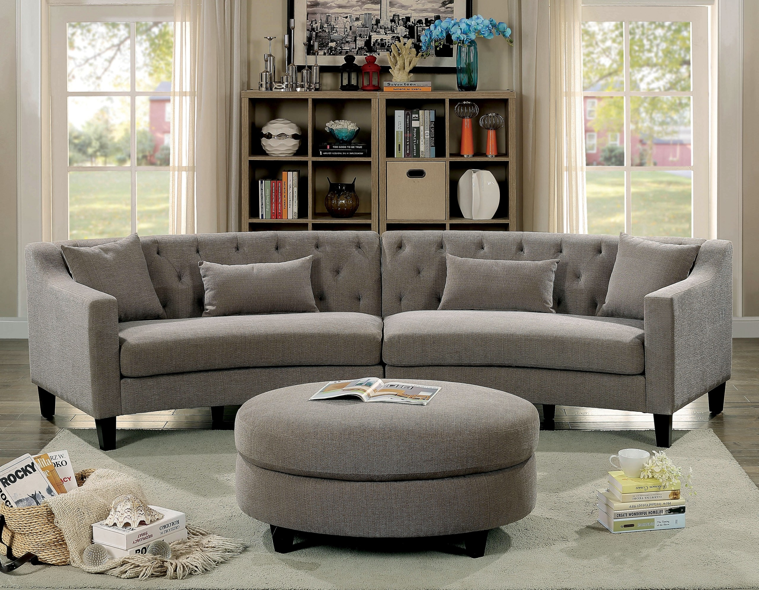Curved Sectional Sofa Couch Ideas On Foter