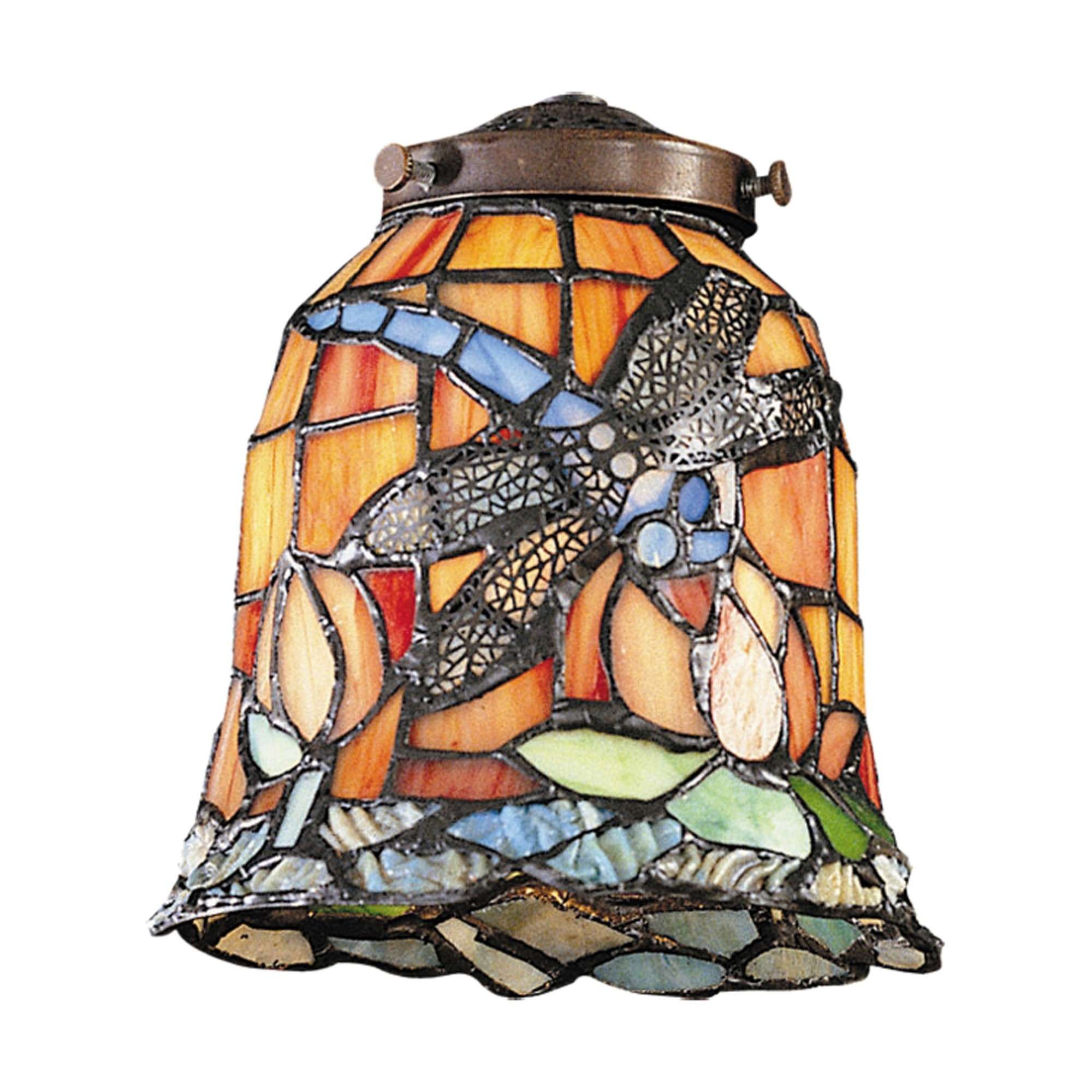 Image of: Stained Glass Ceiling Fan Light Shades Ideas On Foter