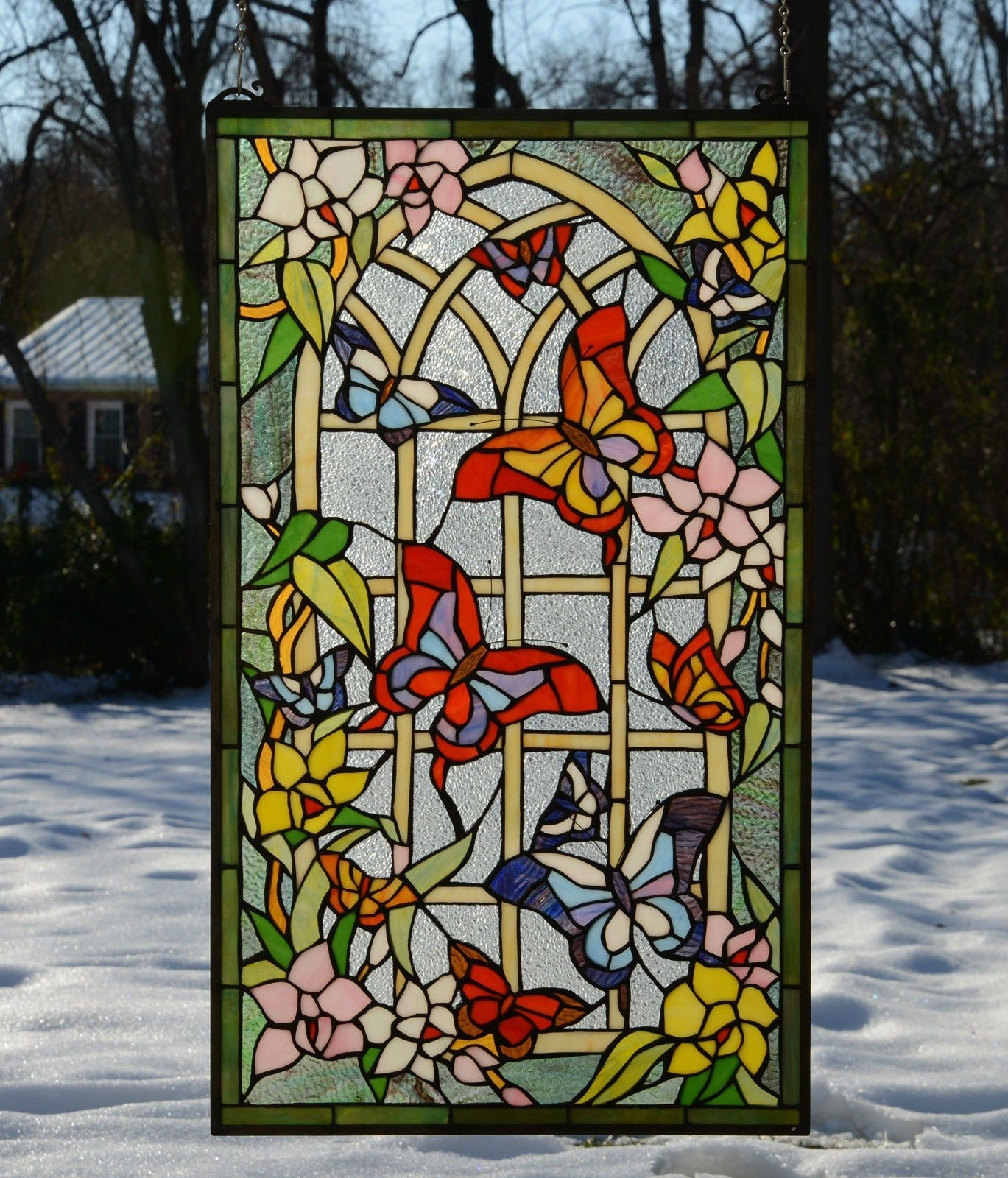 Tiffany Style Stained Glass Window Panel Ideas On Foter