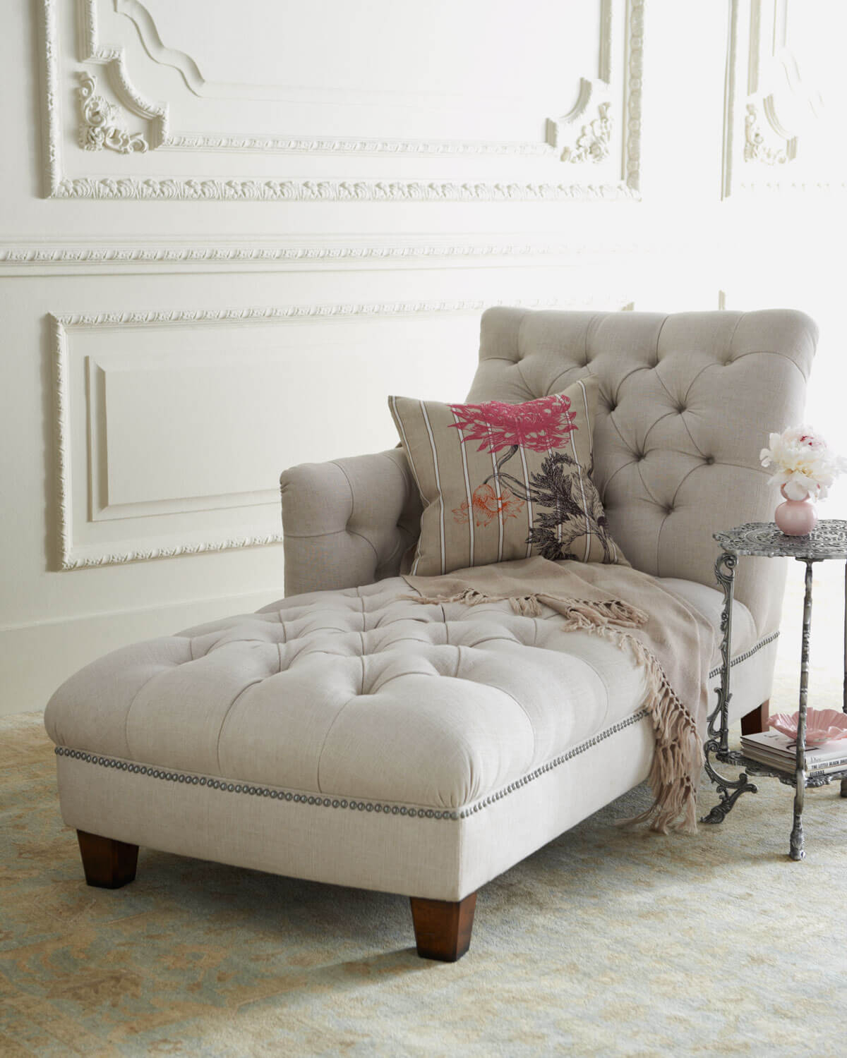 Tufted Chaise Lounge Chair Ideas On Foter