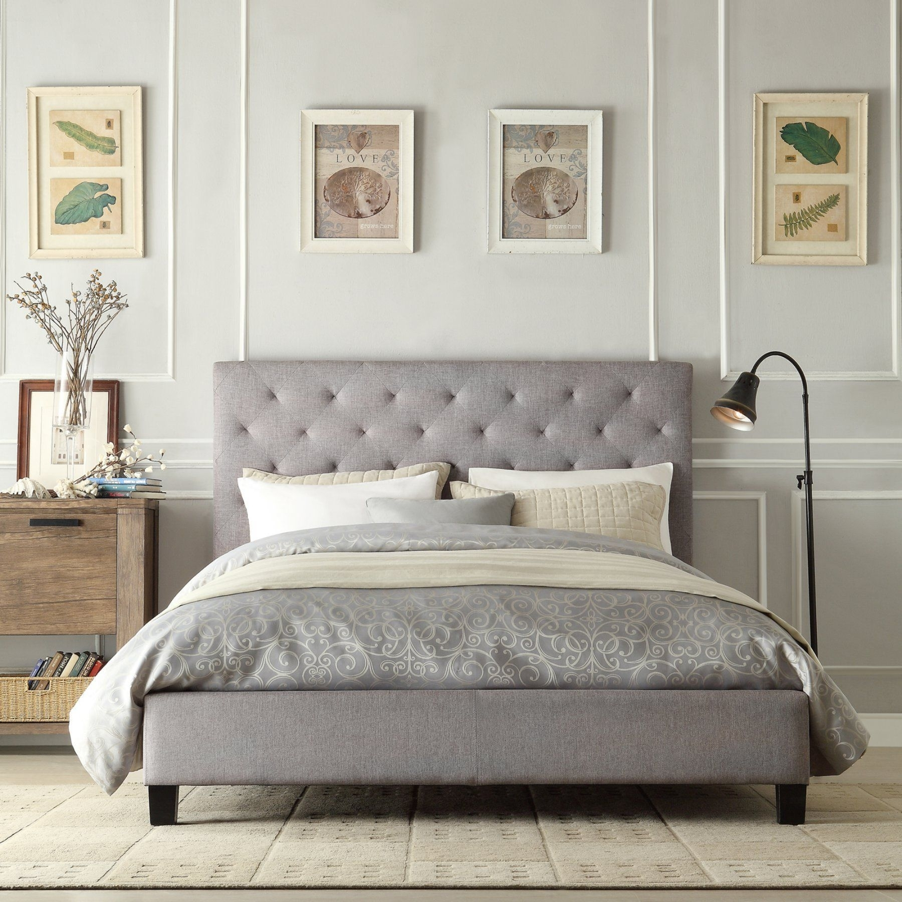 Upholstered Headboard Queen Bed Ideas On Foter