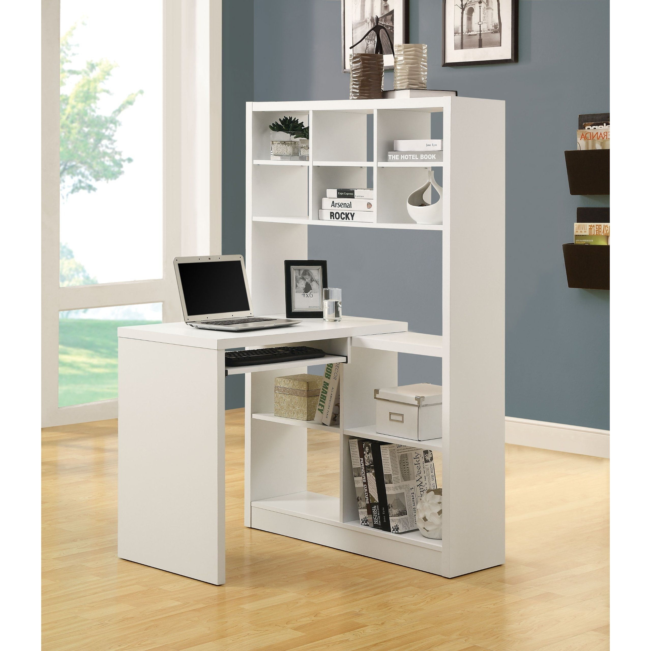 White Corner Desk With Shelves Ideas On Foter