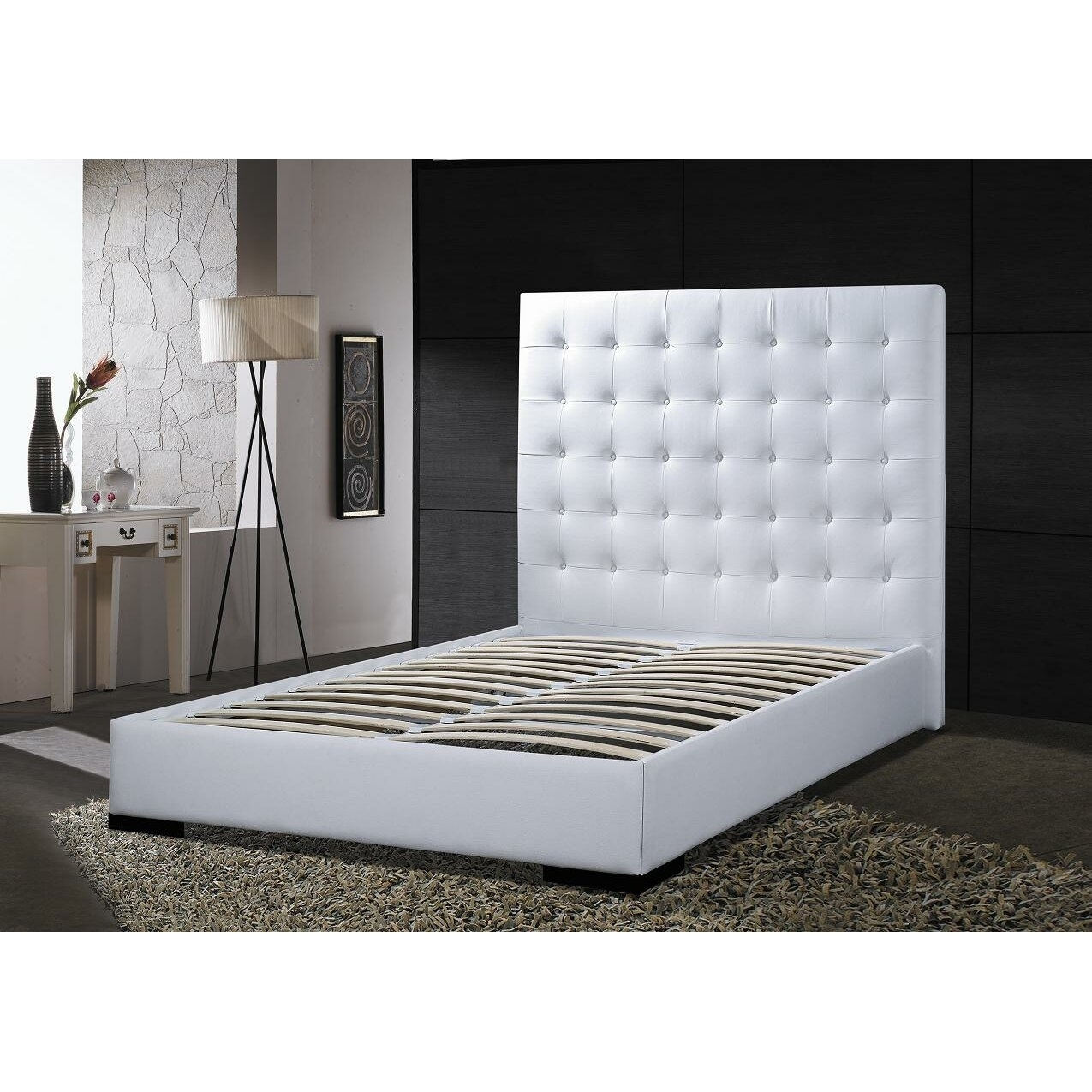 Picture of: White Leather Headboard King Size Ideas On Foter