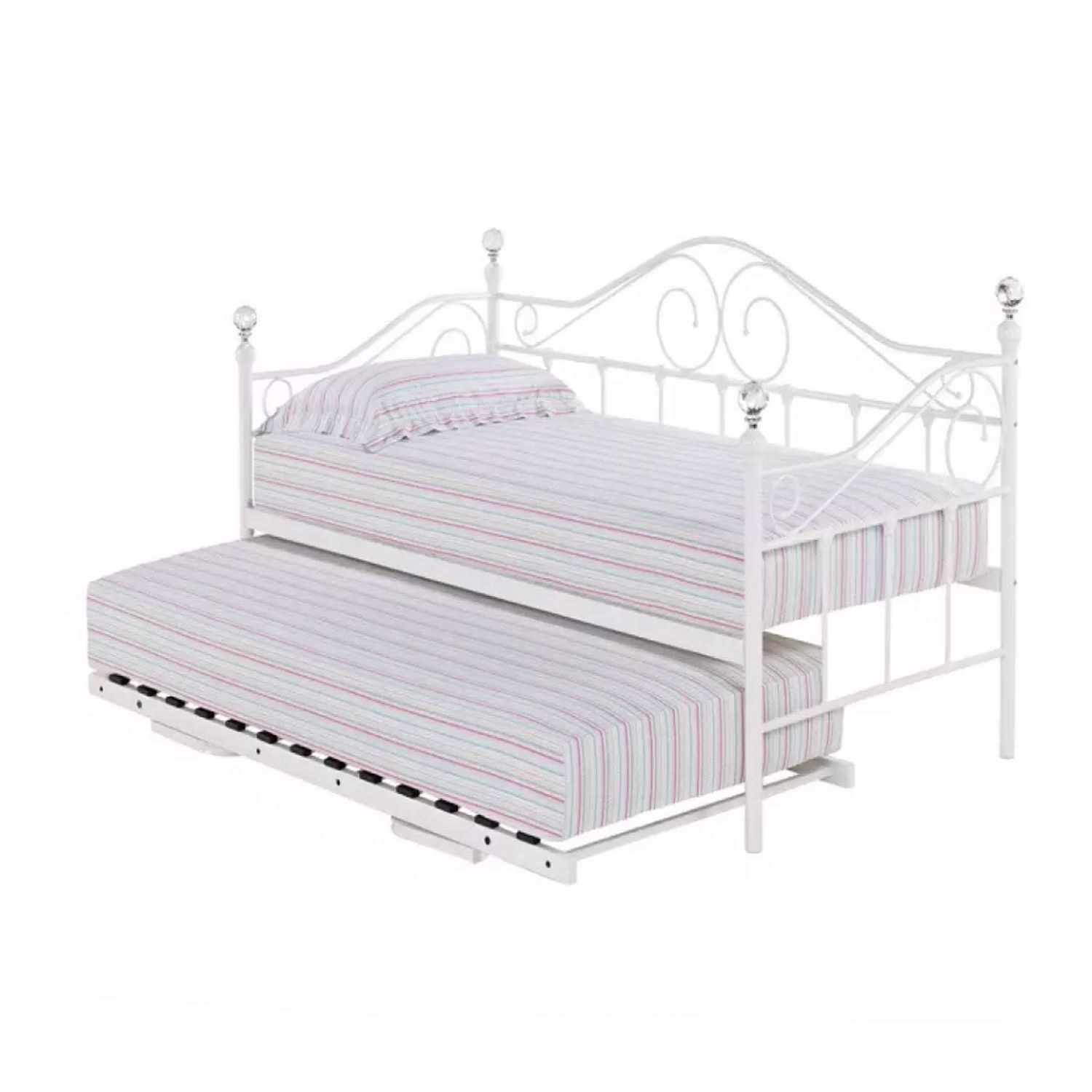 White Metal Daybed With Trundle Ideas On Foter
