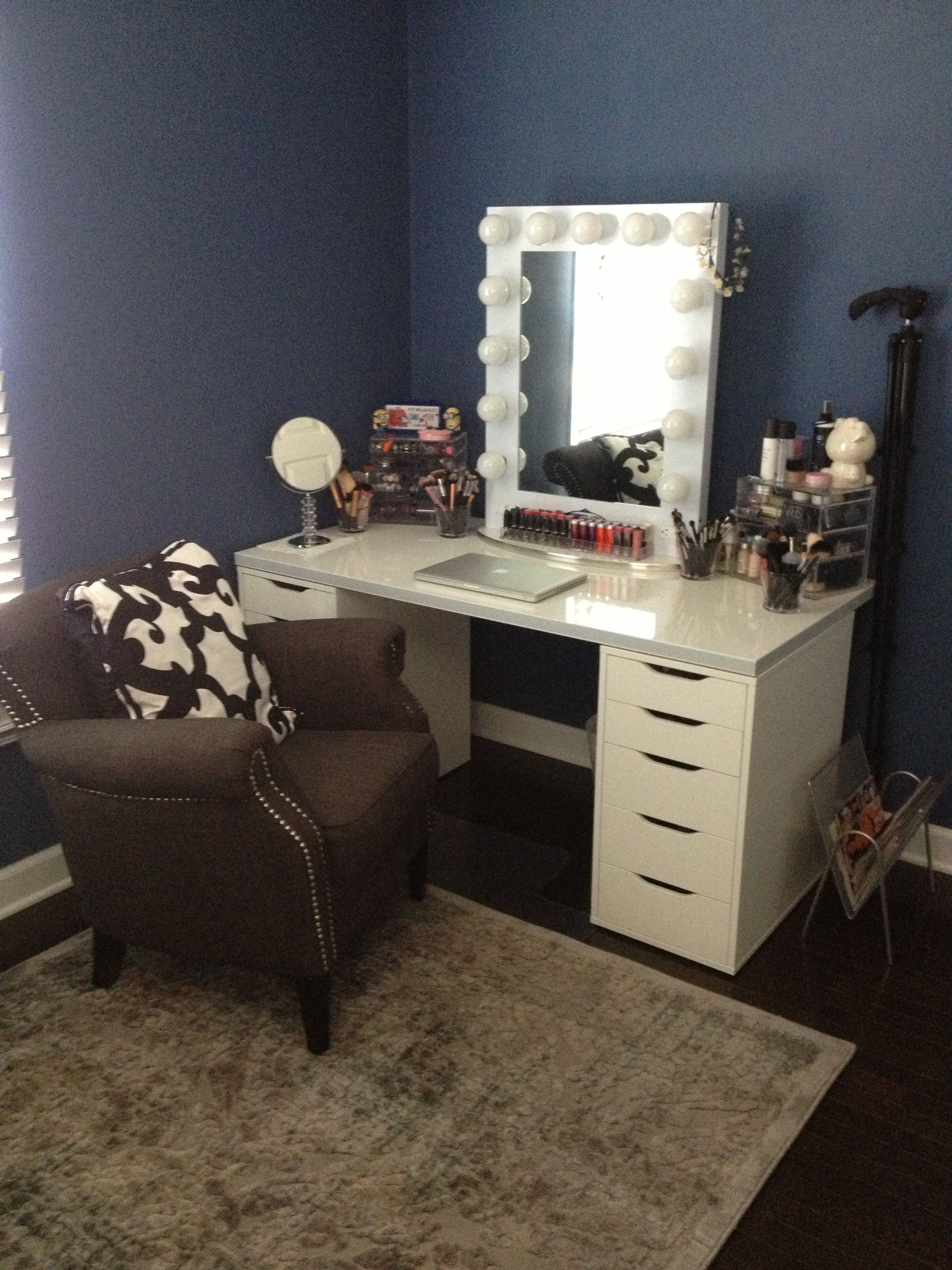 White Vanity Desk With Mirror Ideas On Foter