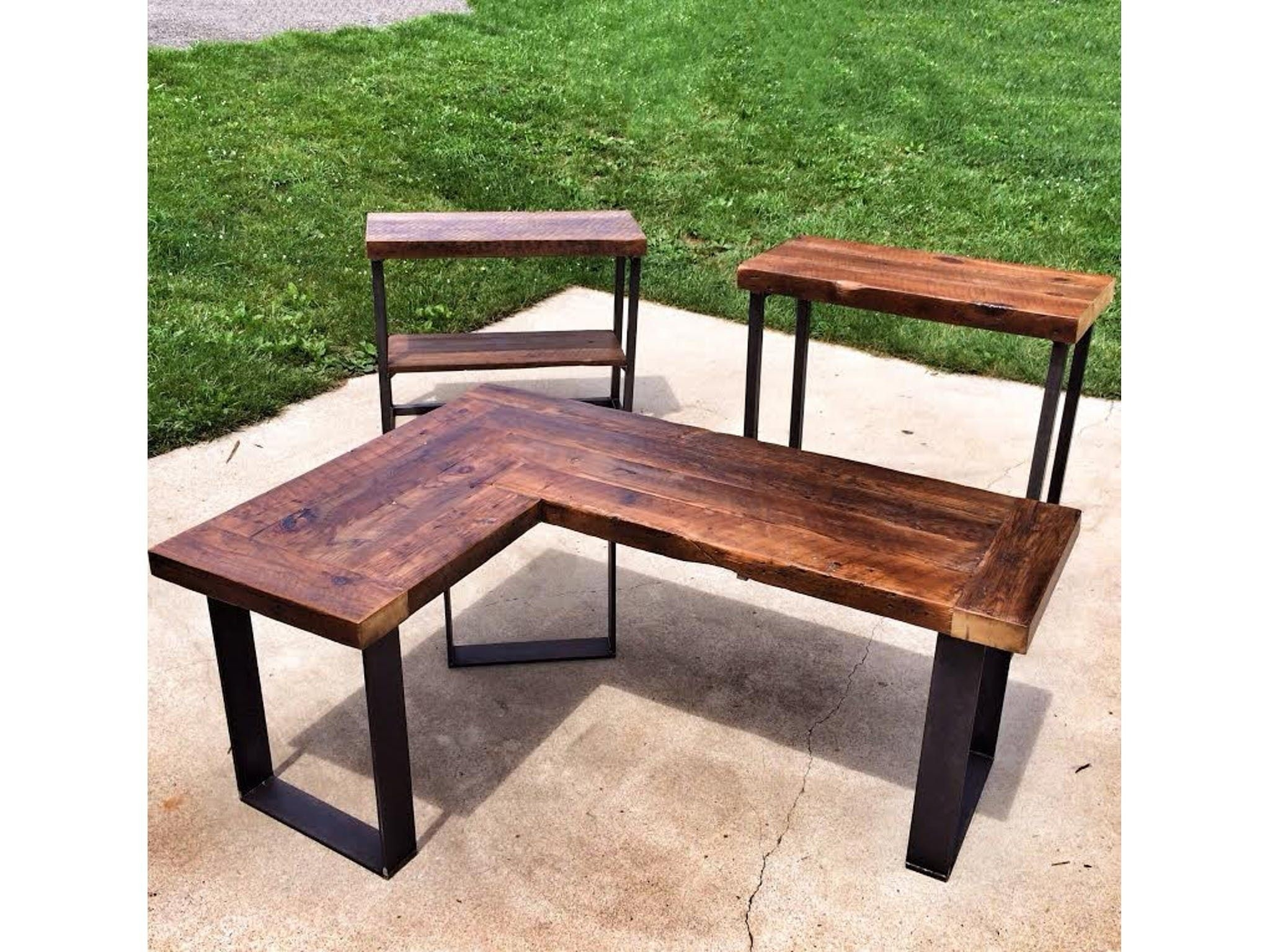 wood l shaped desk