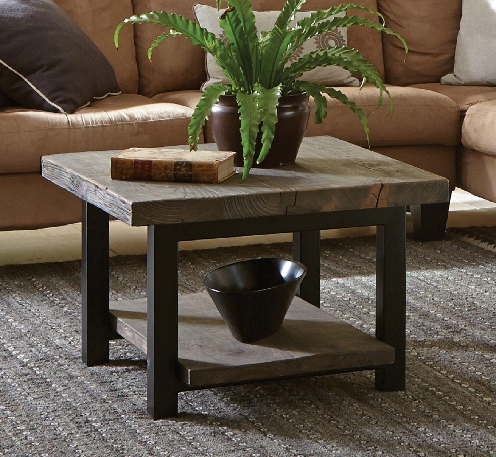 Picture of: Wood Top Coffee Table Metal Legs Ideas On Foter
